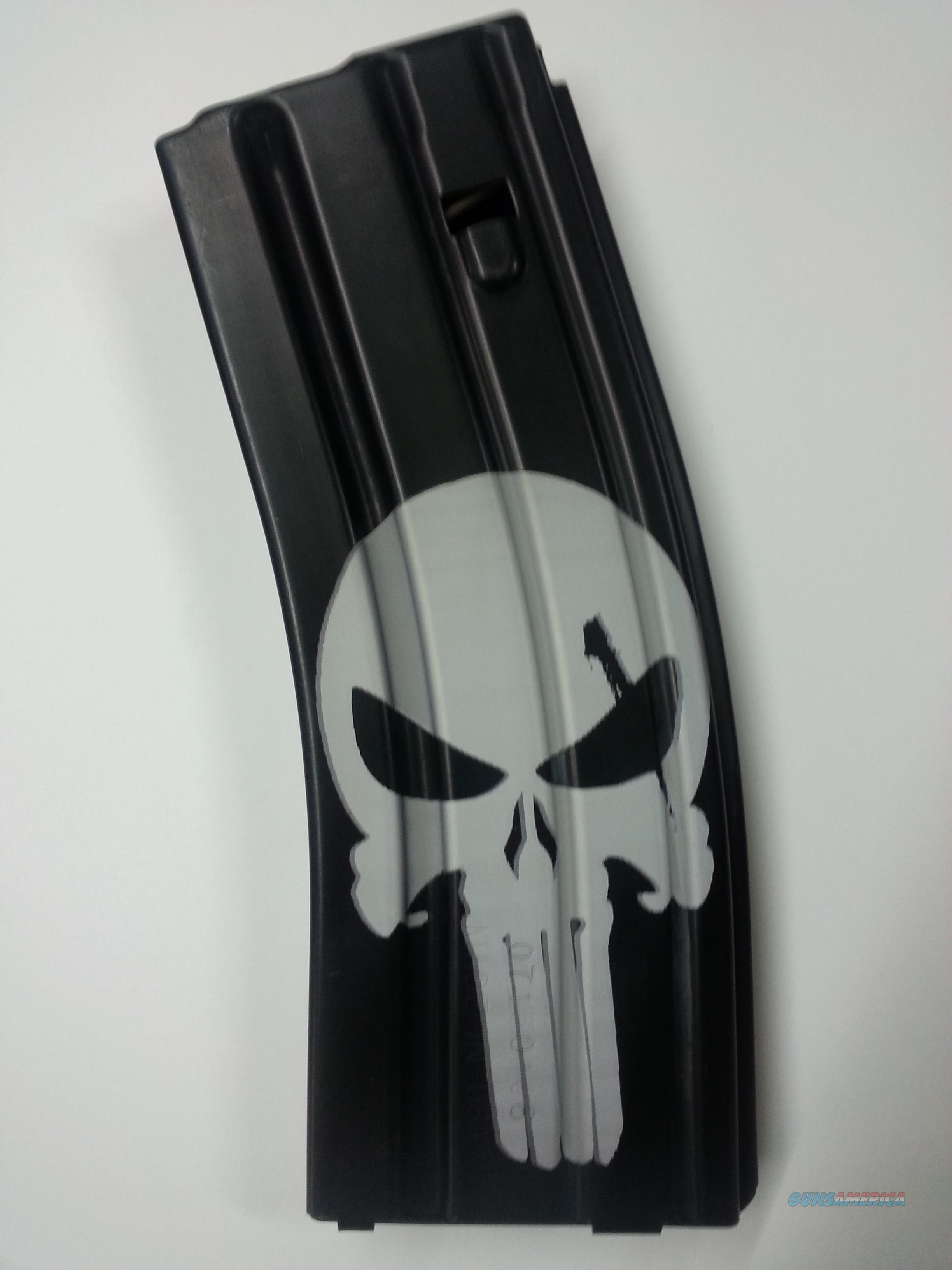 Punisher Laser Etched 30 round 5.56 .223 Aluminum Magazine  Non-Guns > Magazines & Clips > Rifle Magazines > AR-15 Type