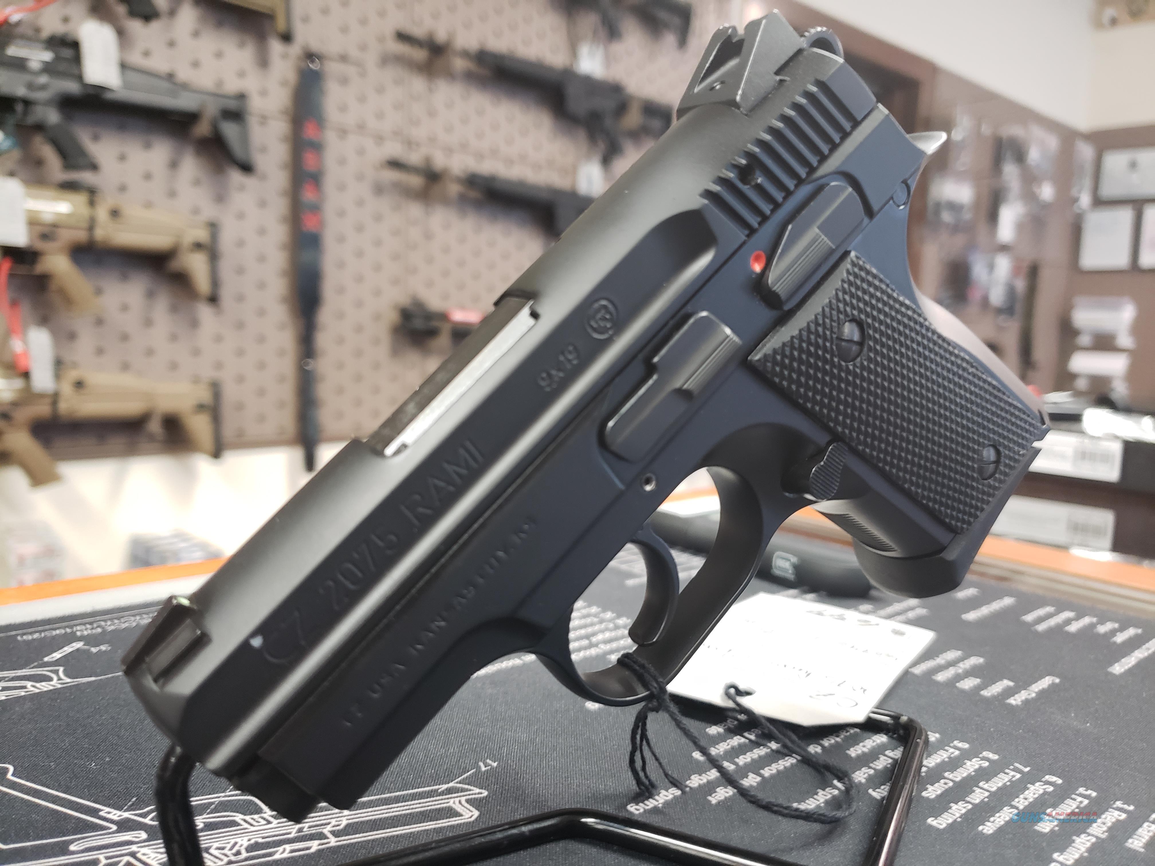 """CZ 91750 CZ 2075 9mm Luger Single/Double 3"""" 14+1 Black Rubber Grip Black Slide  Guns > Pistols > CZ Pistols"""