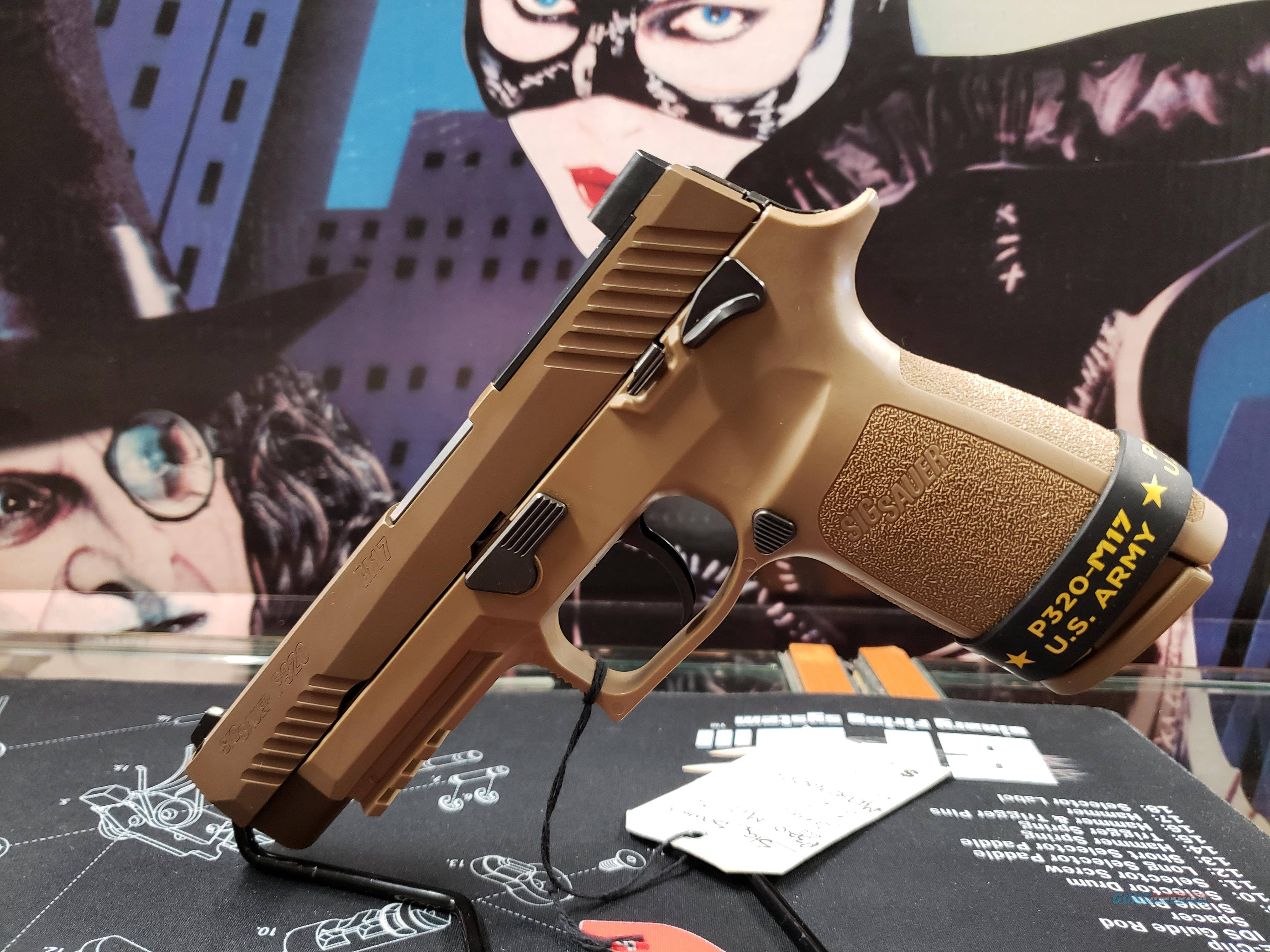 """Sig Sauer 320F9M17MS P320 M17 9mm Luger Double 4.7"""" 17+1 Coyote Polymer Grip Coyote Stainless Steel PVD Slide  Guns > Pistols > Sig - Sauer/Sigarms Pistols > P320"""
