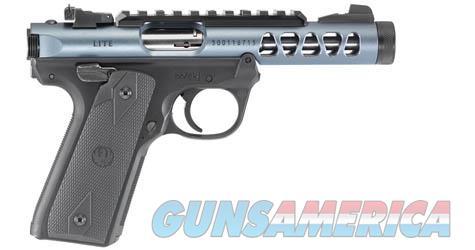 "Ruger 43917 Mark IV 22/45 Lite 22 LR SAO 4.40"" 10+1 Black Checkered 1911 Style Grip Diamond Gray Anodized Slide  Guns > Pistols > Ruger Semi-Auto Pistols > 22/45"