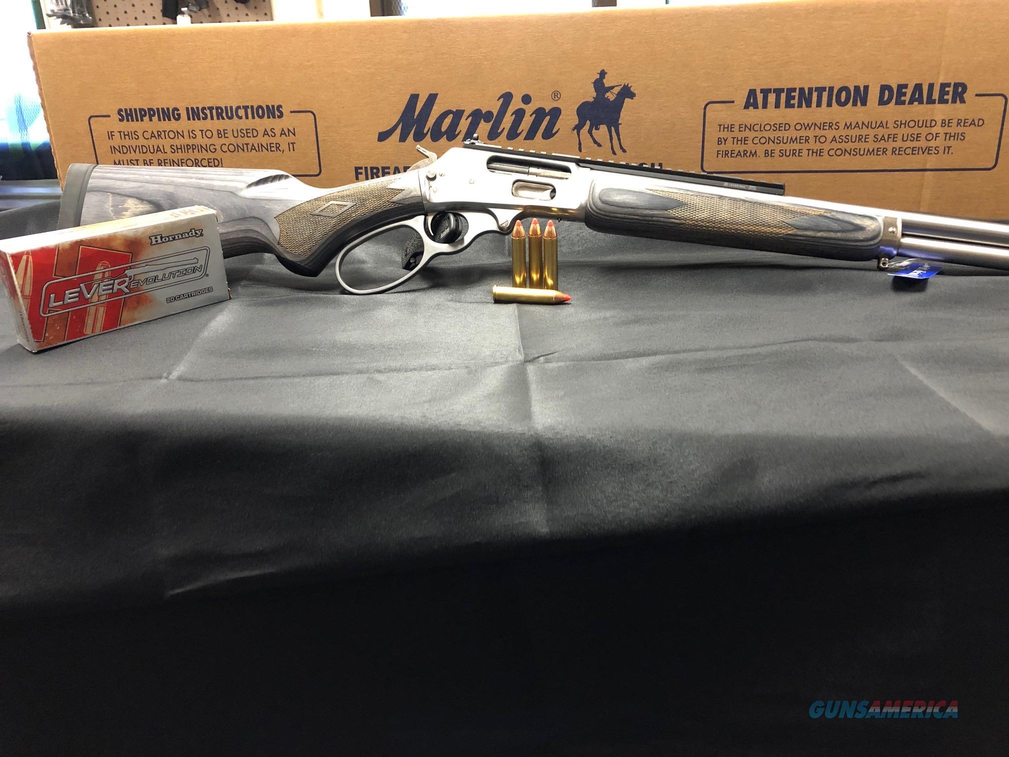 "Marlin 70478 1895 Big Loop 45-70 Gov 6+1 18.50"" Stainless Steel Gray Laminate Stock Right Hand  Guns > Rifles > Marlin Rifles > Modern > Lever Action"