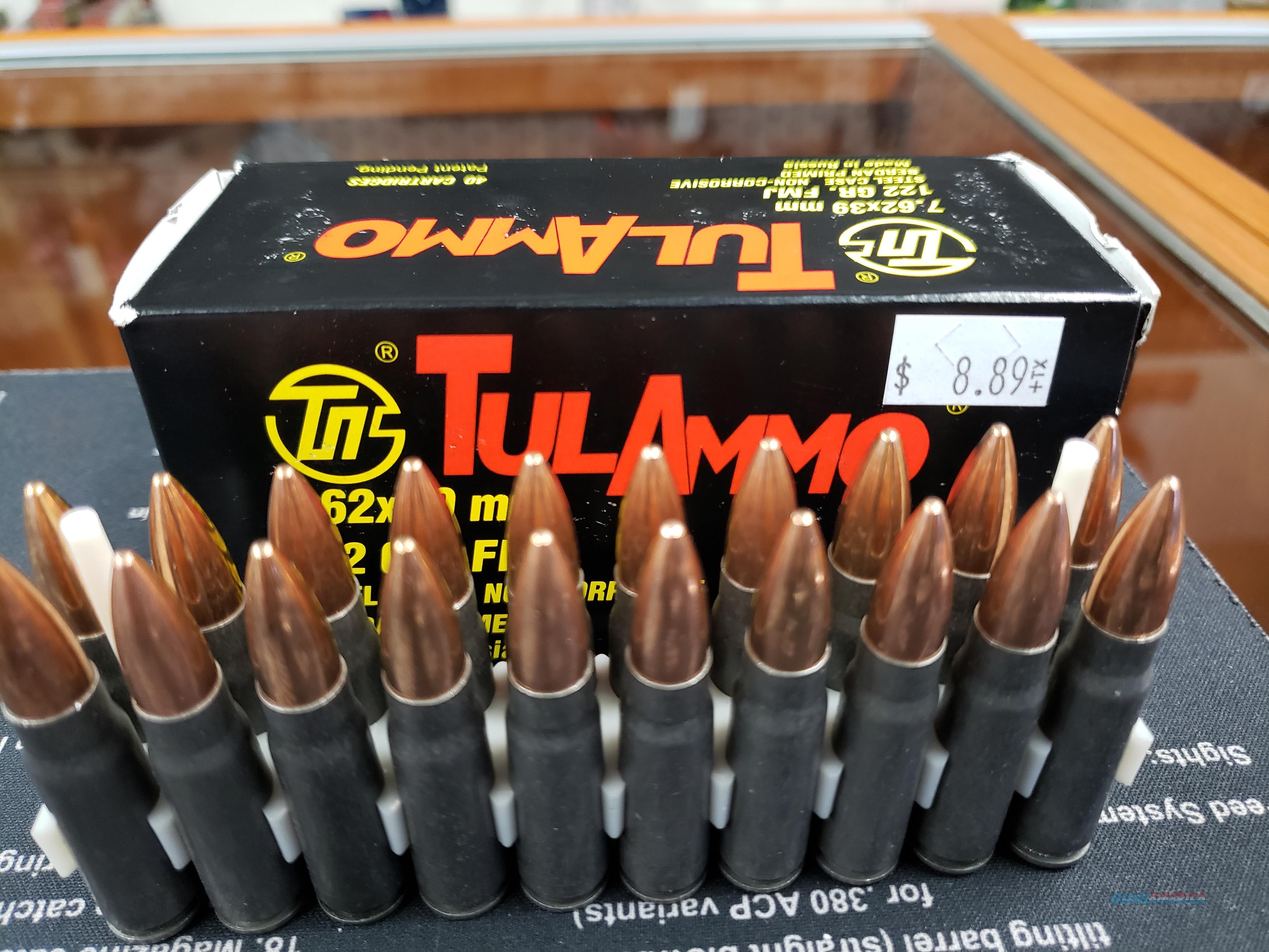 Tulammo UL076240 Centerfire Rifle 7.62X39mm 122 GR FMJ 40 Bx  Non-Guns > Ammunition