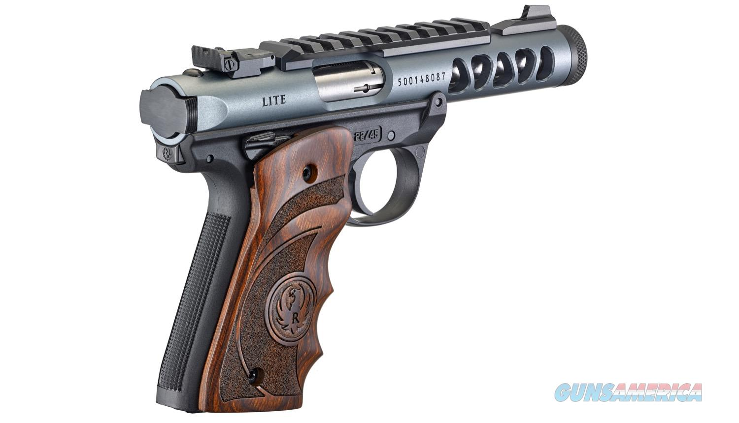 "Ruger 43921 Mark IV 22/45 Lite 22 LR Single 4.40"" Non-Threaded 10+1 Laminate Wood Grip Gray Anodized Aluminum Ported Slide  Guns > Pistols > Ruger Semi-Auto Pistols > 22/45"