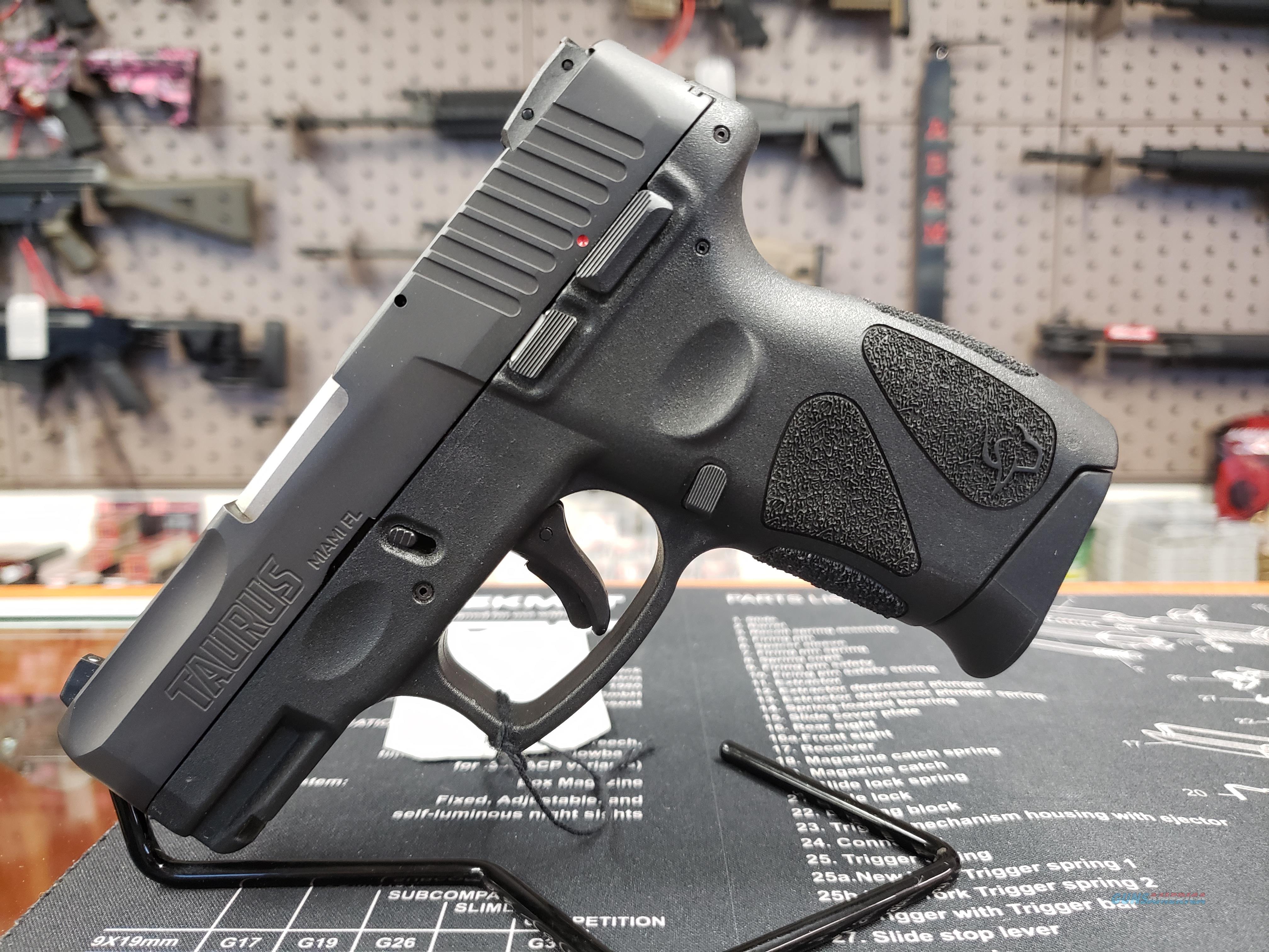 "Taurus 1G2C93112 G2C 9mm Luger Single/Double 3.2"" 12+1 Black Polymer Grip Blued Stainless Steel Slide  Guns > Pistols > Taurus Pistols > Semi Auto Pistols > Polymer Frame"