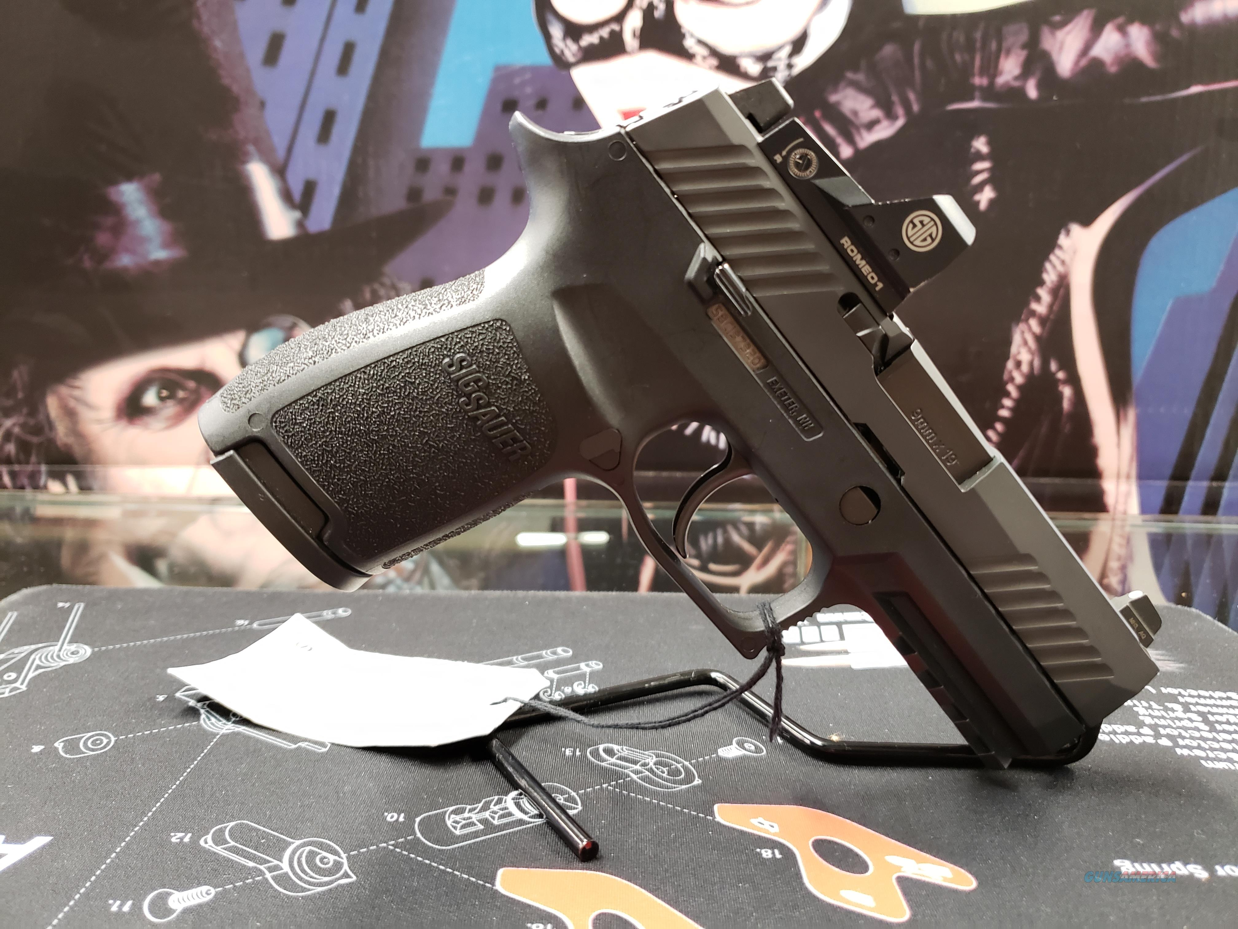 """Sig Sauer 320C9BSSRX P320 Compact RX Double 9mm Luger 3.9"""" 15+1 Black Polymer Grip Black Nitron Stainless Steel  Guns > Pistols > Sig - Sauer/Sigarms Pistols > P320"""