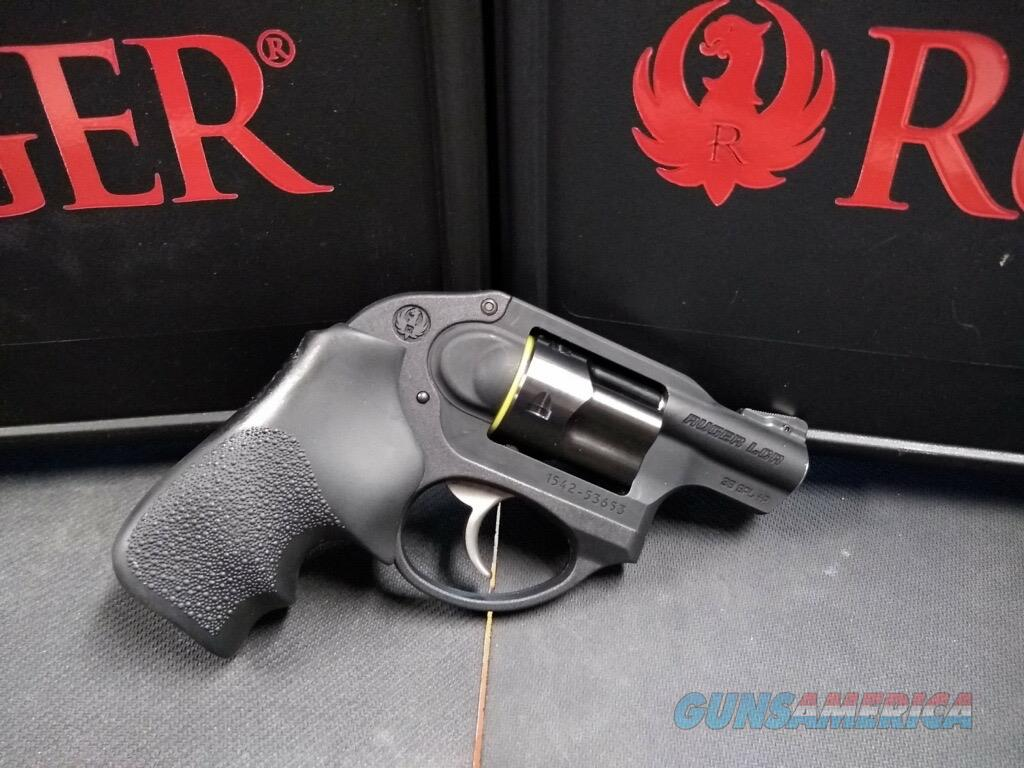 "Ruger 5401 LCR DAO 38 Special 1.87"" 5 Round Black Hogue Tamer Monogrip Grip Black  Guns > Pistols > Ruger Double Action Revolver > LCR"