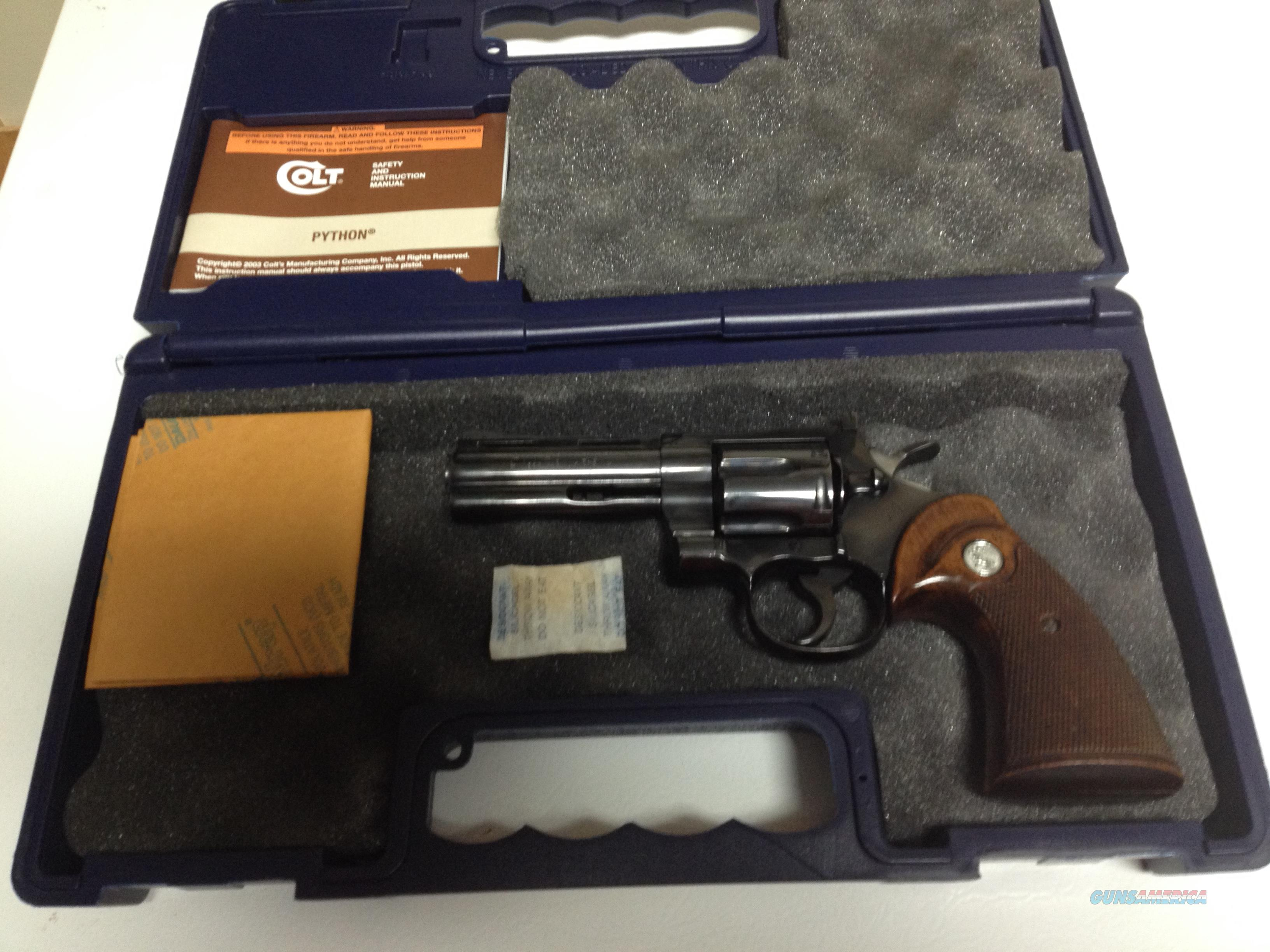 "colt 357 magnum 4"" blued with box, poapers  Guns > Pistols > Collectible Pistols"