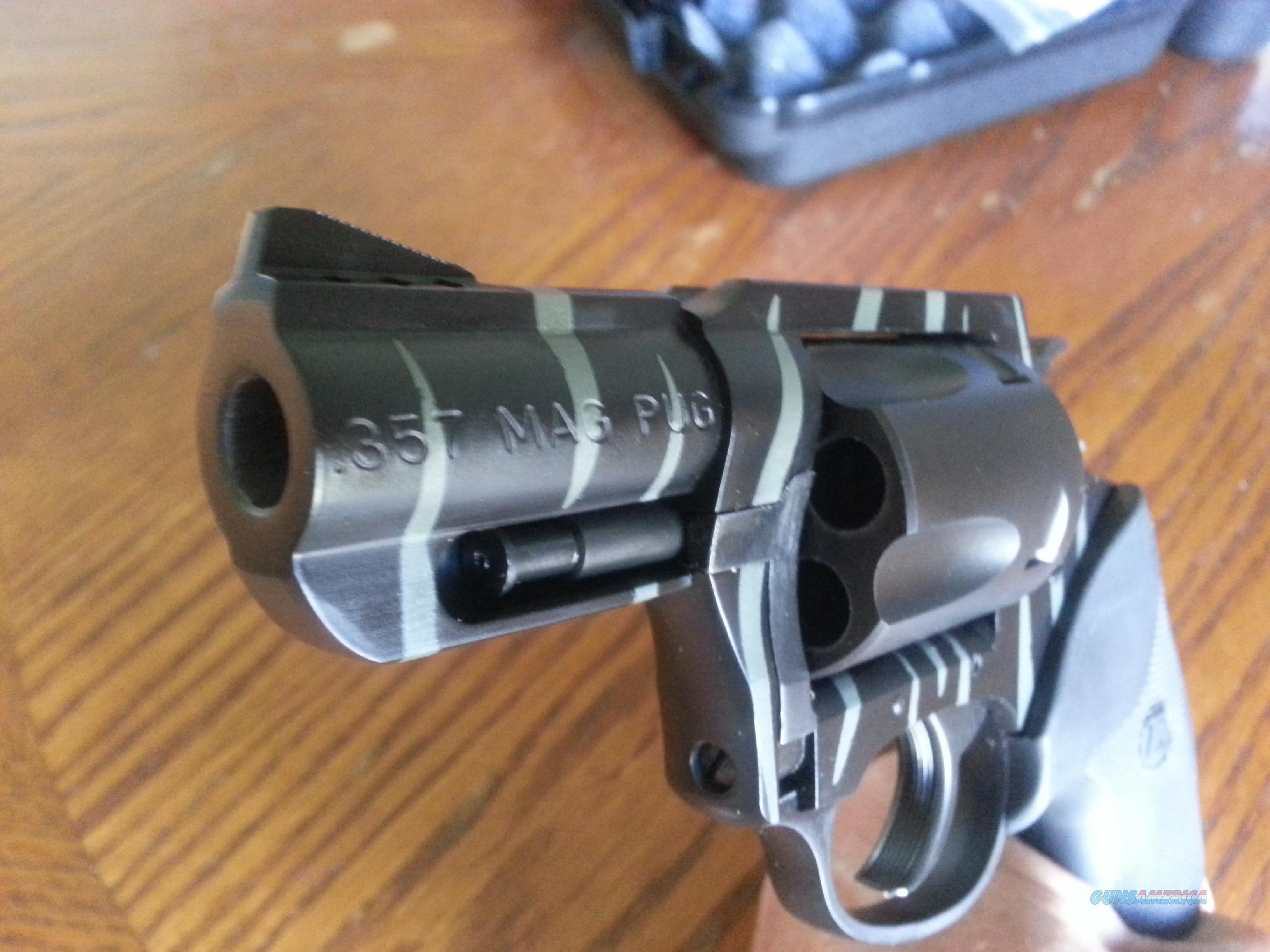 Charter Arms Pug 357 Mag Black and Green Tiger Stripes SnubNose 5 Shot NIB FREE LAYAWAY!!!  Guns > Pistols > Charter Arms Revolvers