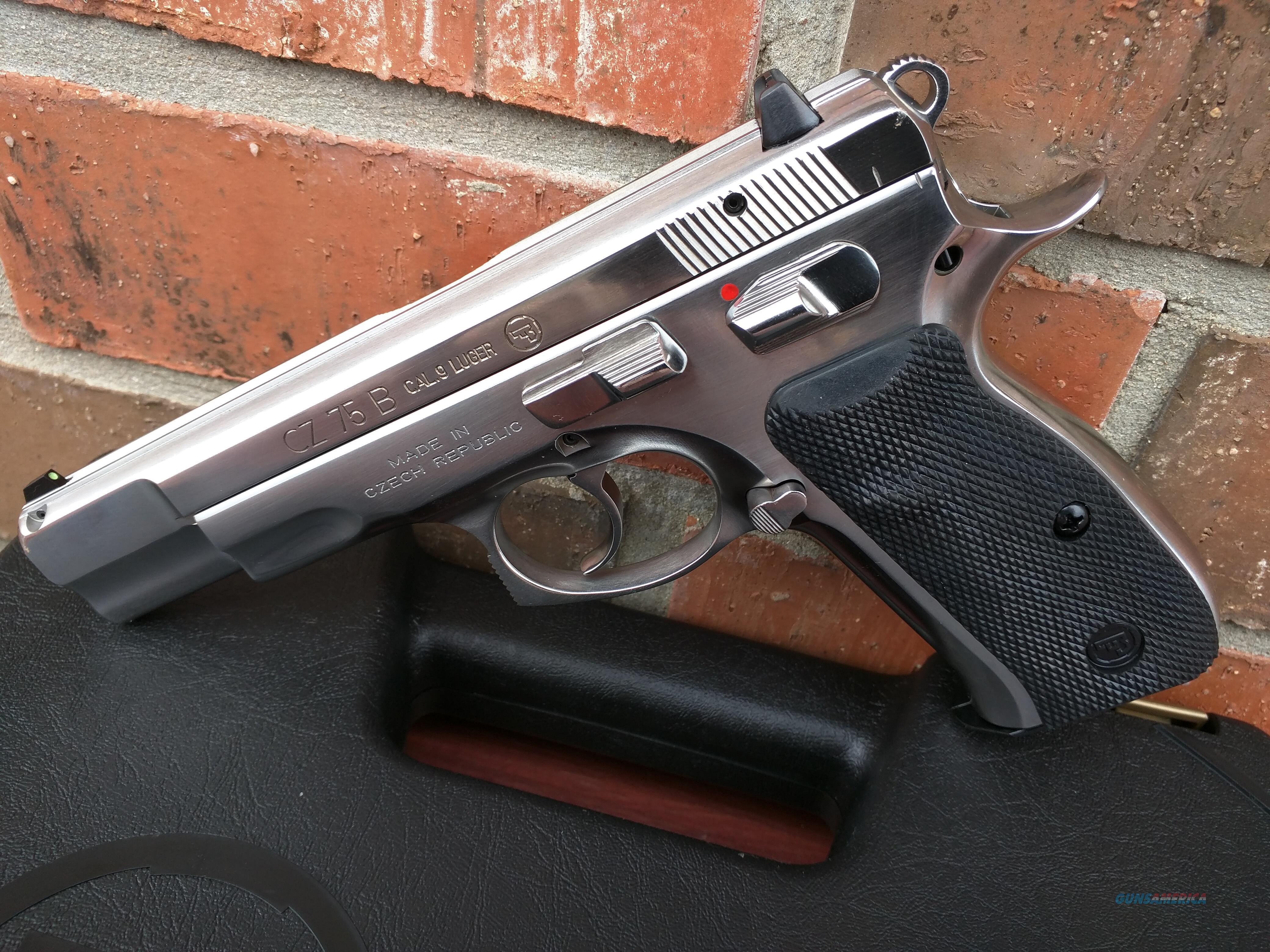 CZ CZ USA 75 B 75B,SA/DA, 9mm, High polished Stainless, 3 dot sights, 2-16 round mags, Great Trigger!!, NIB, Free Layaway  Guns > Pistols > CZ Pistols