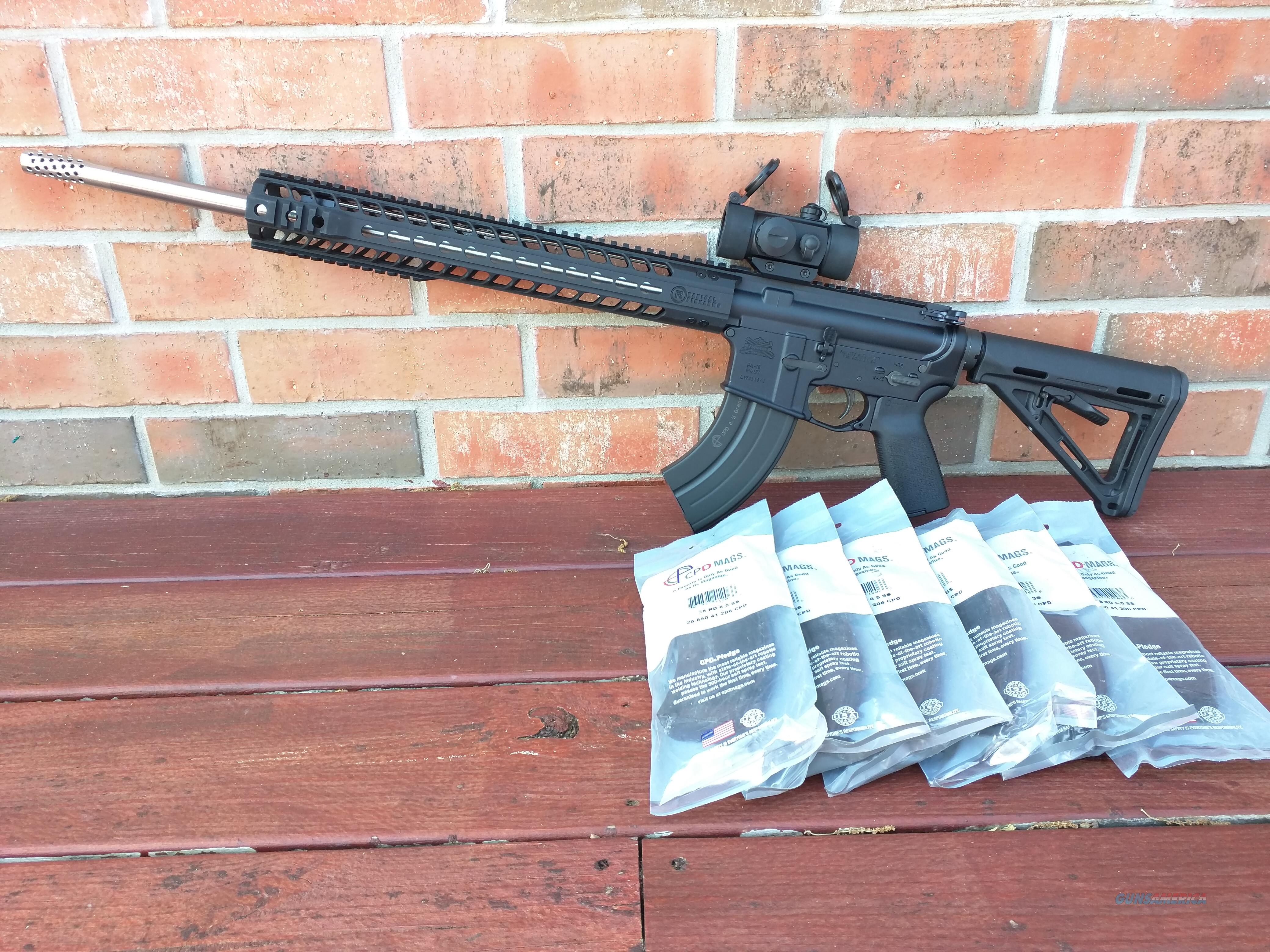 "Radical Firearms AR15 AR 15 6.5 Grendel NEW, PSA Lower Magpul Stock and Grip,TruGlo Red Dot,  ALL BRAND NEW (7) 28 Rd Mags 20"" Stainless Muzzle Brake 15"" Alum. Handguard FREE LAYAWAY!! READY TO ROCK!!!  Guns > Rifles > Radical Firearms Rifles"