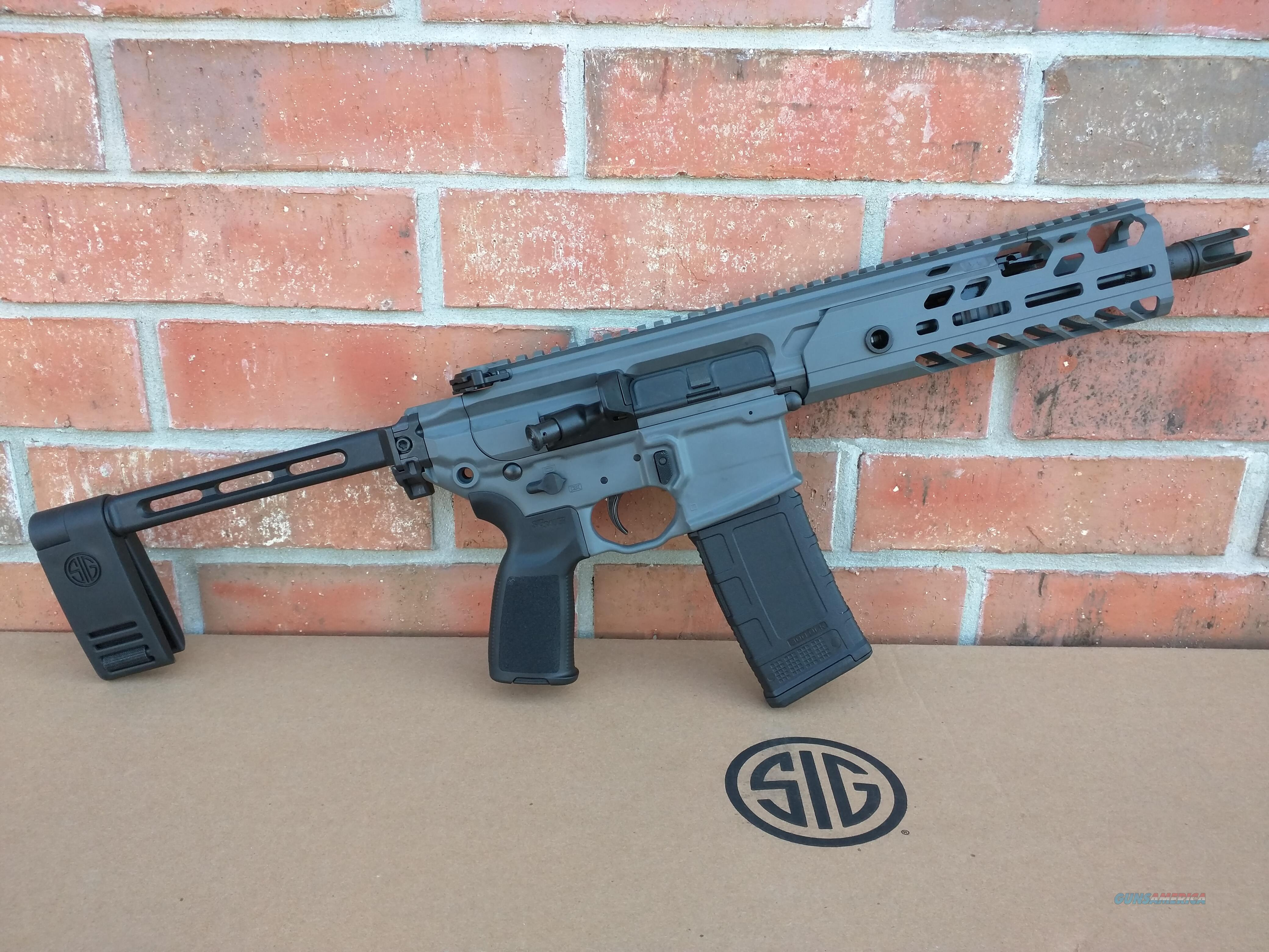 "Sig Sauer AR 15 AR15 MCX Virtus Pistol 300 AAC Blackout ,NIB, 9"" Barrel, Folding Pistol Brace, Adjustable Piston, Stealth Gray, Match Lite, Duo Trigger, AMBI Controls, FREE LAYAWAY  Guns > Rifles > Sig - Sauer/Sigarms Rifles"