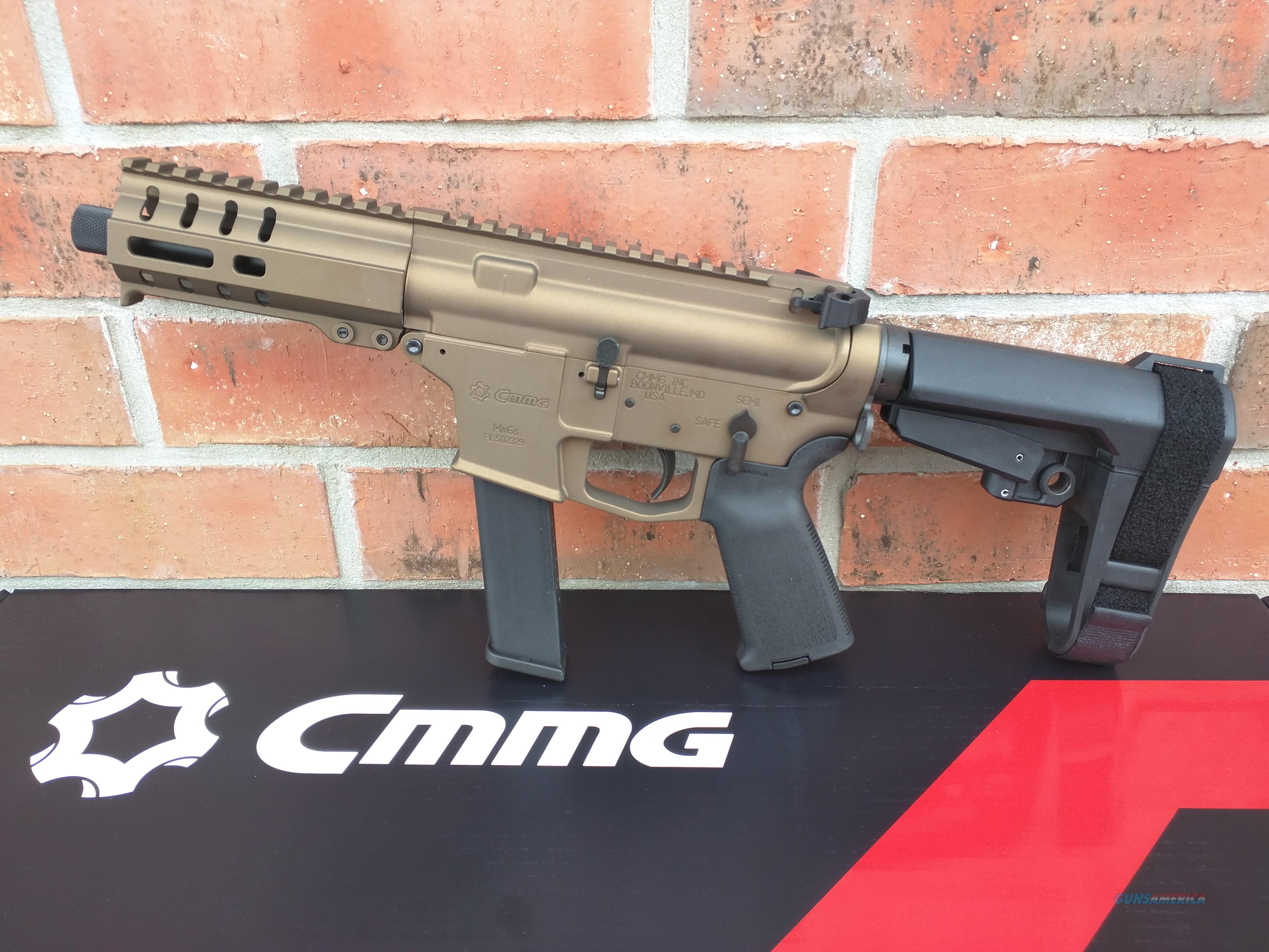 "CMMG Banshee AR 15 Pistol 40 S&W Burnt Bronze 5"" NEW MODEL!! with SBA3 Pistol Brace 22 Rd Magazine Takes Glock Mags RADIAL DELAYED BLOWBACK Billet Alum. NIB FREE LAYAWAY  Guns > Rifles > AR-15 Rifles - Small Manufacturers > Complete Rifle"