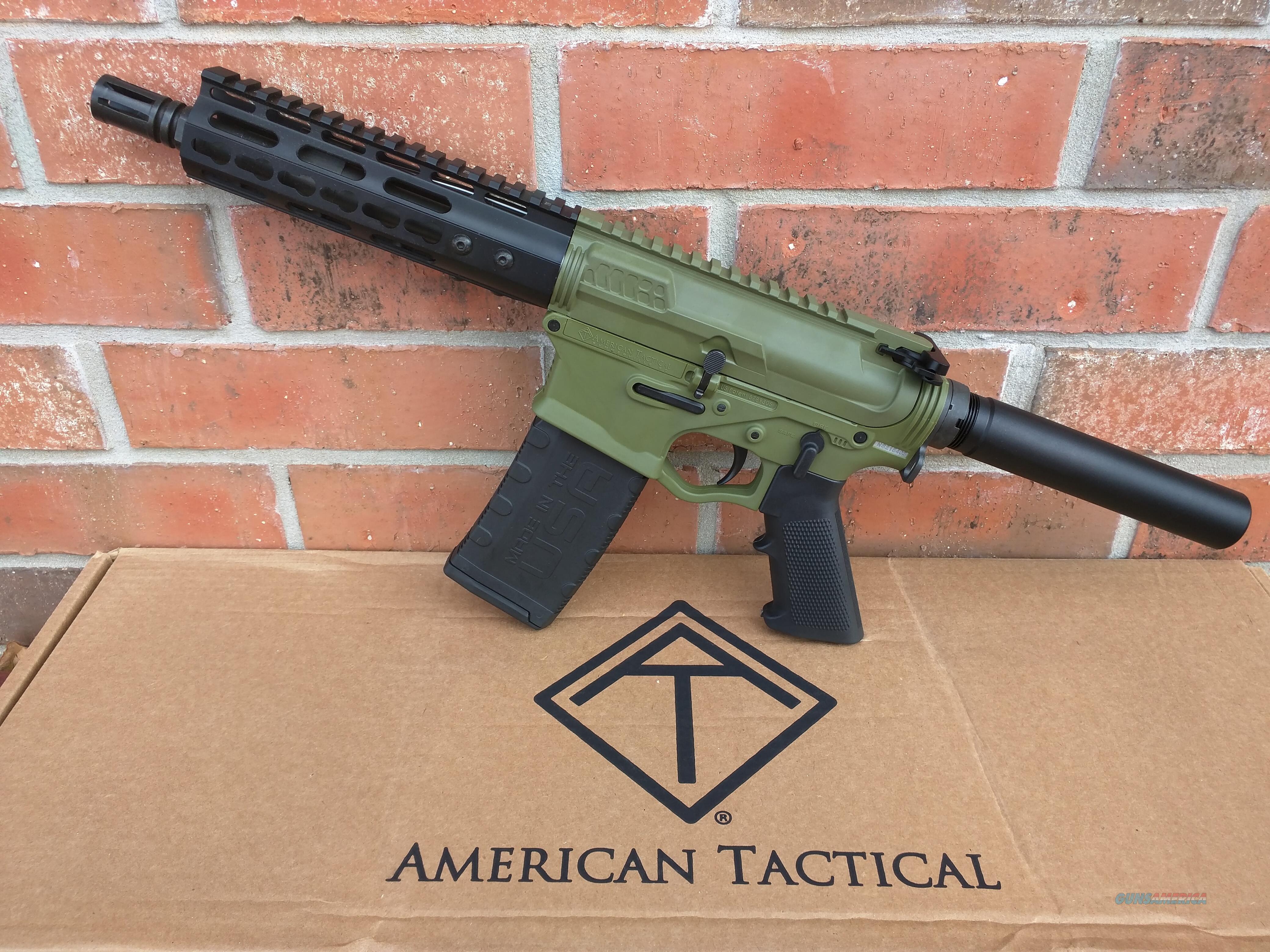 "ATI AR 15 AR15 Pistol American Tactical Omni Maxx Hybrid Battlefield Green 5.56/223 7.5"" Barrel, Aluminum Hand Guard (1) 30 Rd Mag NIB Lightweight Corrosion Resistant FREE LAYAWAY  Guns > Rifles > AR-15 Rifles - Small Manufacturers > Complete Rifle"
