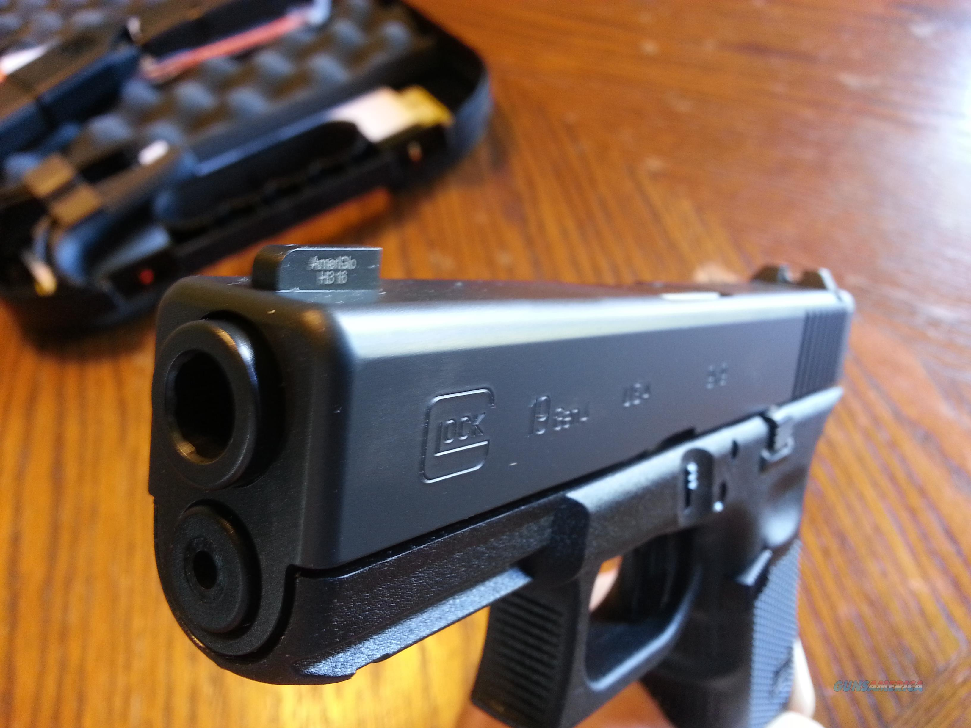 Glock 19 Gen 4 TALO EDITION GLO PRO Front Night Sight 9mm 3 Mags NIB SALE!!!  Guns > Pistols > Glock Pistols > 19
