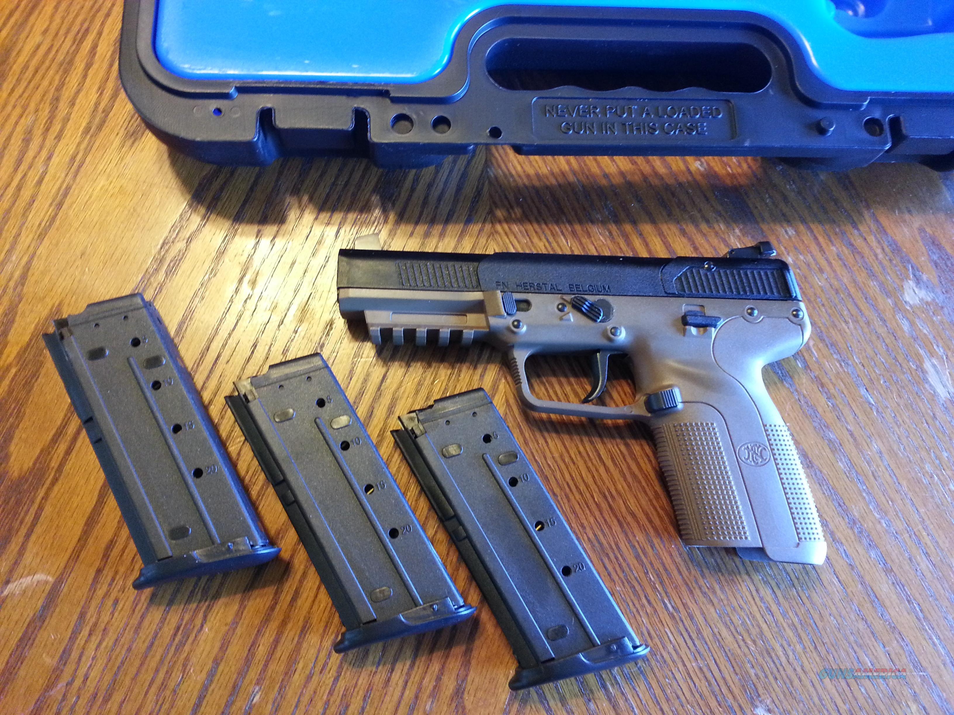 FN Five-Seven 5.7 Pistol, MK II, 5.7 x 28mm, NIB, (3) 20 Round Mags FDE FREE LAYAWAY  Guns > Pistols > FNH - Fabrique Nationale (FN) Pistols > FiveSeven