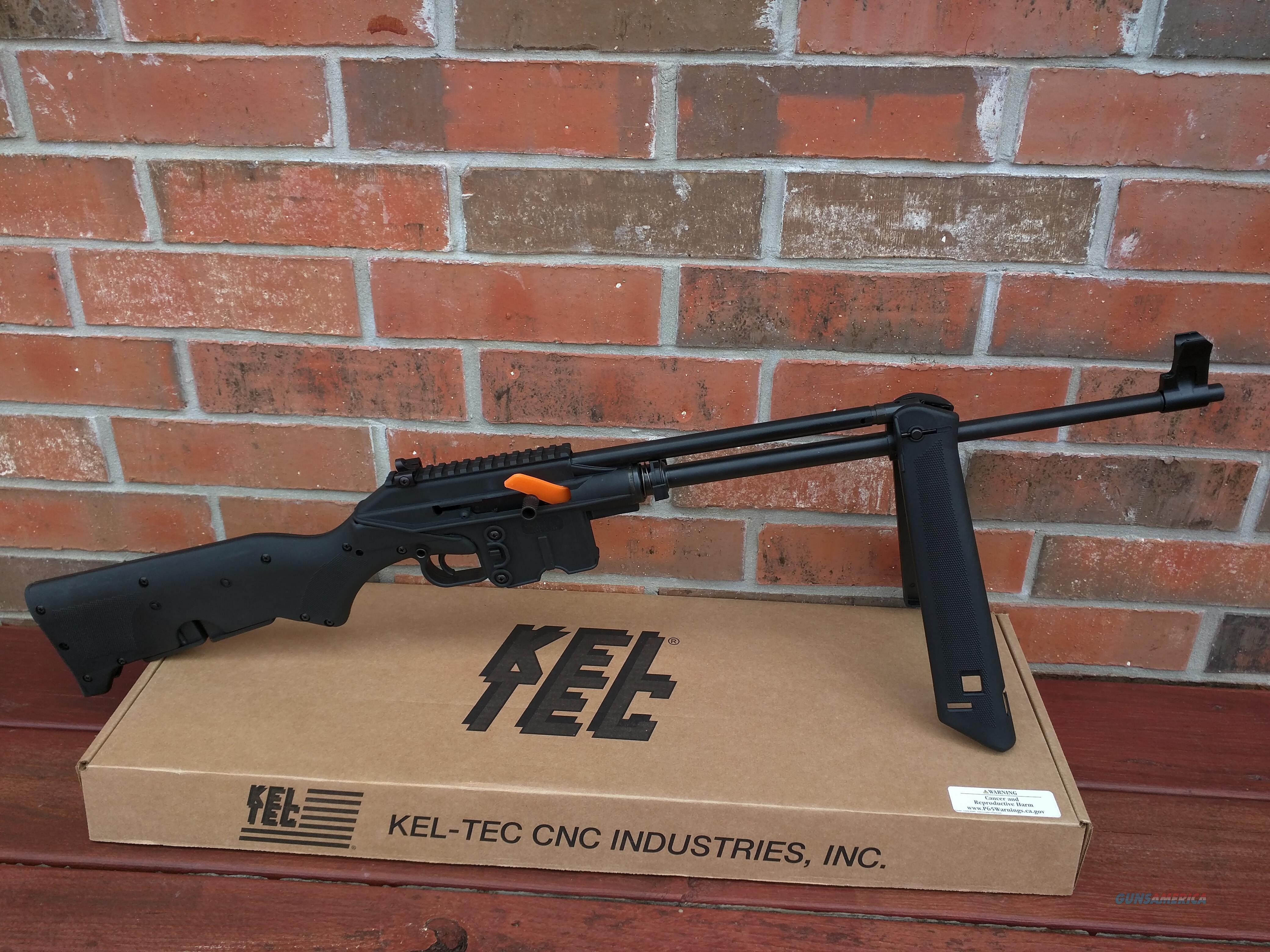 "Keltec Kel Tec SU16A Folding Rifle, 5.56/223, built in bi-pod, 16"", Iron sights and flat top, takes all AR 15 magazines, lightweight only 4.7lb, NIB FREE Layaway  Guns > Rifles > AR-15 Rifles - Small Manufacturers > Complete Rifle"