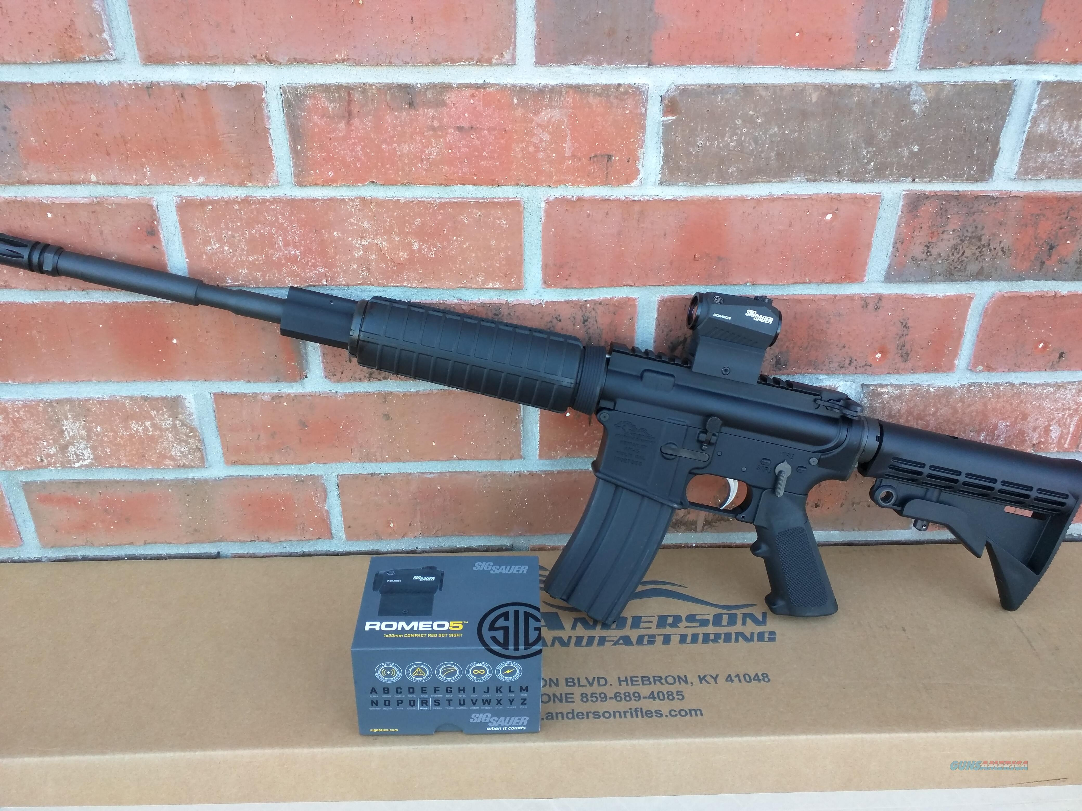 """Anderson AR15 AR 15  SALE!!! SIG SAUER Romeo 5 RED DOT COMBO!!! 5.56/223 16"""" ALL NIB SALE!!!! COMBO DEAL!!! FREE LAYAWAY!!  Guns > Rifles > AR-15 Rifles - Small Manufacturers > Complete Rifle"""