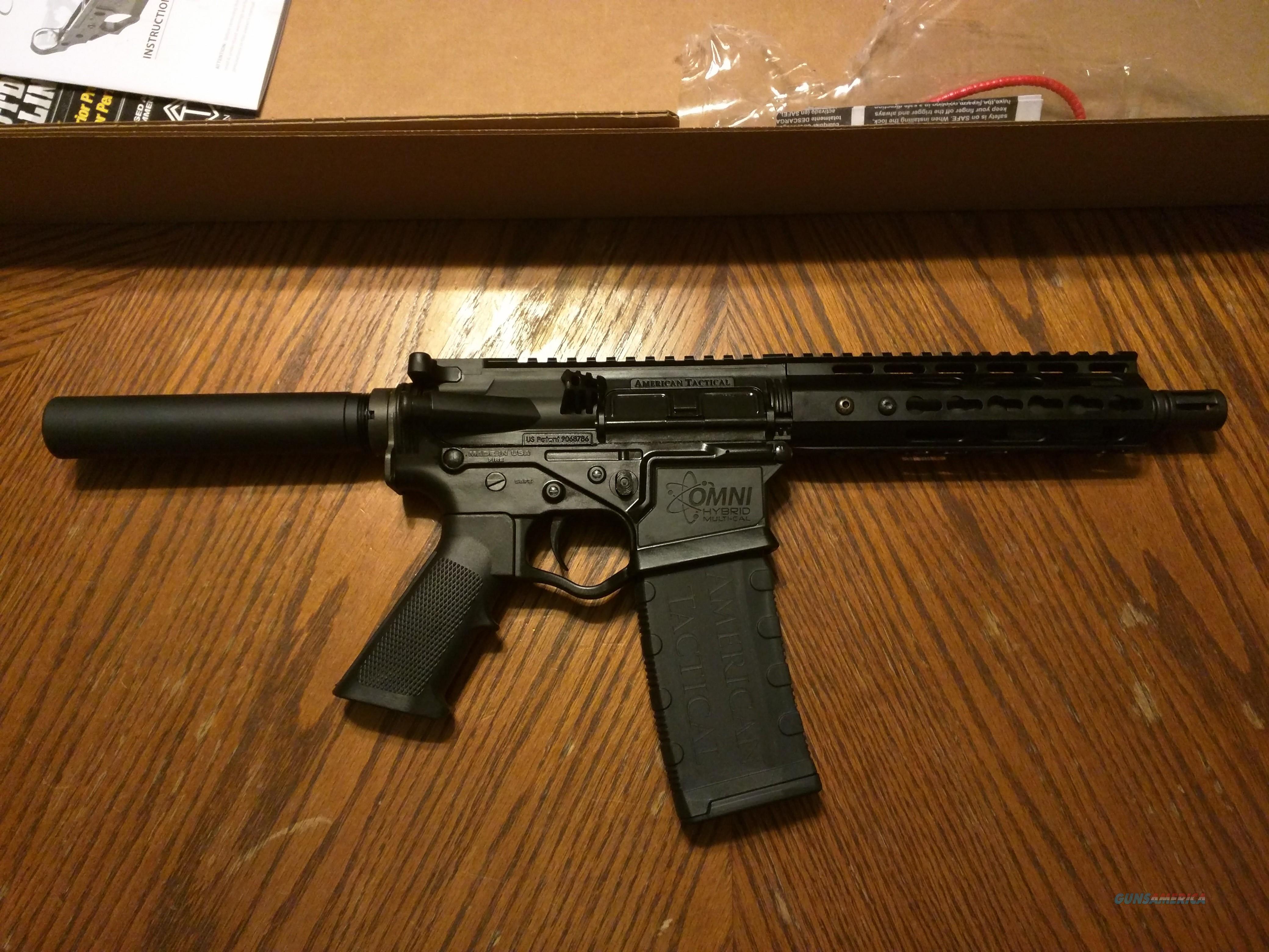 "ATI AR 15 AR15 Pistol American Tactical Omni Maxx Hybrid 300 AAC BLACKOUT 8.5"" Nitride Barrel, Aluminum Key Mod Hand Guard (1) 30 Rd Mag NIB Lightweight Corrosion Resistant FREE LAYAWAY!!  Guns > Rifles > AR-15 Rifles - Small Manufacturers > Complete Rifle"