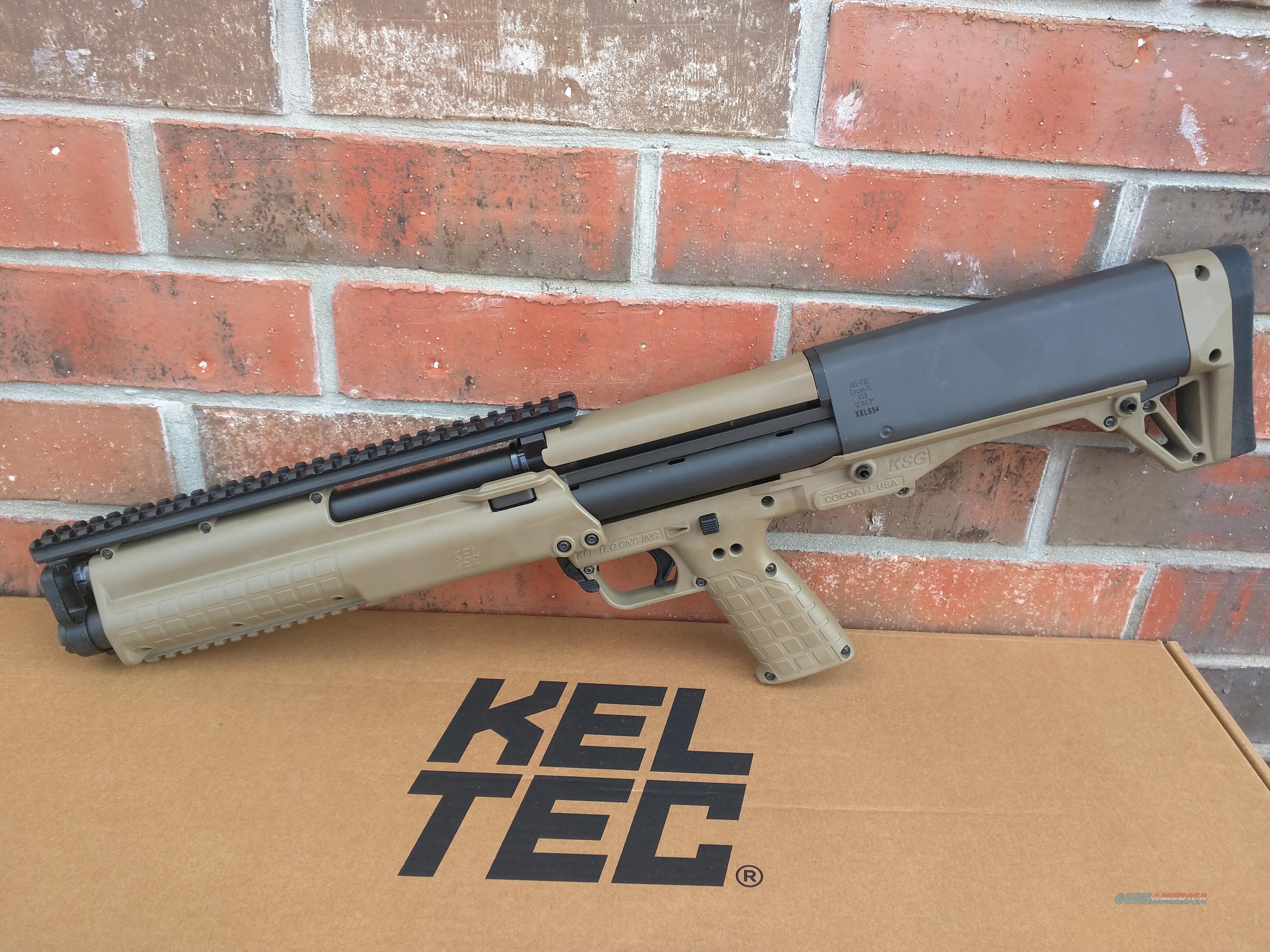 "Keltec KSG Tan 12 Gauge Pump 18.5"" 14+1 Capacity FREE LAYAWAY!! SALE!!  Guns > Shotguns > Kel-Tec Shotguns > KSG"