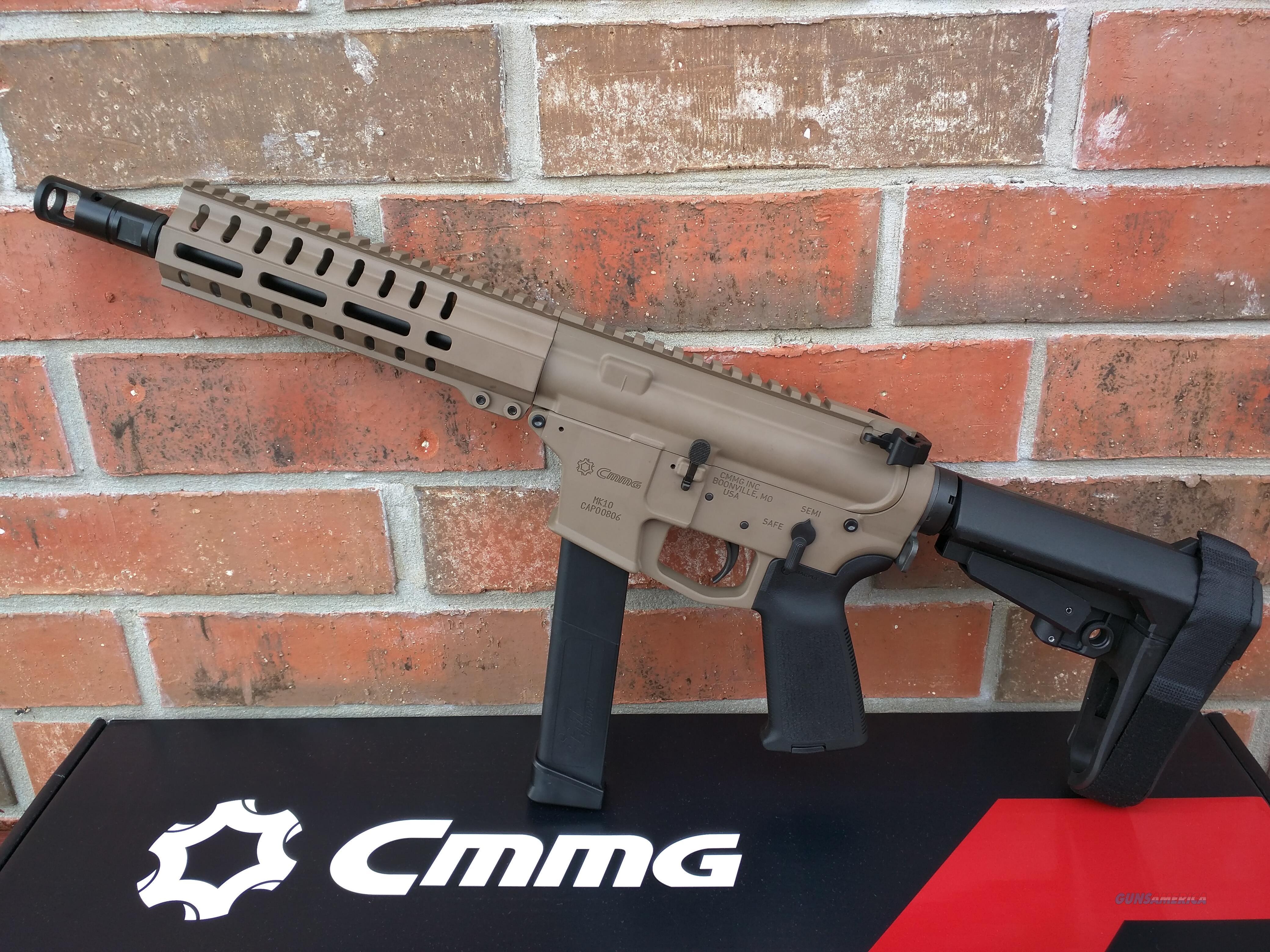"CMMG Banshee 300 MK10 AR 15 Pistol 10mm FDE 8"" , SBA3 Pistol Brace ,30 Rd Magazine Takes Glock Mags RADIAL DELAYED BLOWBACK Billet Alum.AMBI, NIB, NEW MODEL!! FREE LAYAWAY!!  Guns > Rifles > AR-15 Rifles - Small Manufacturers > Complete Rifle"