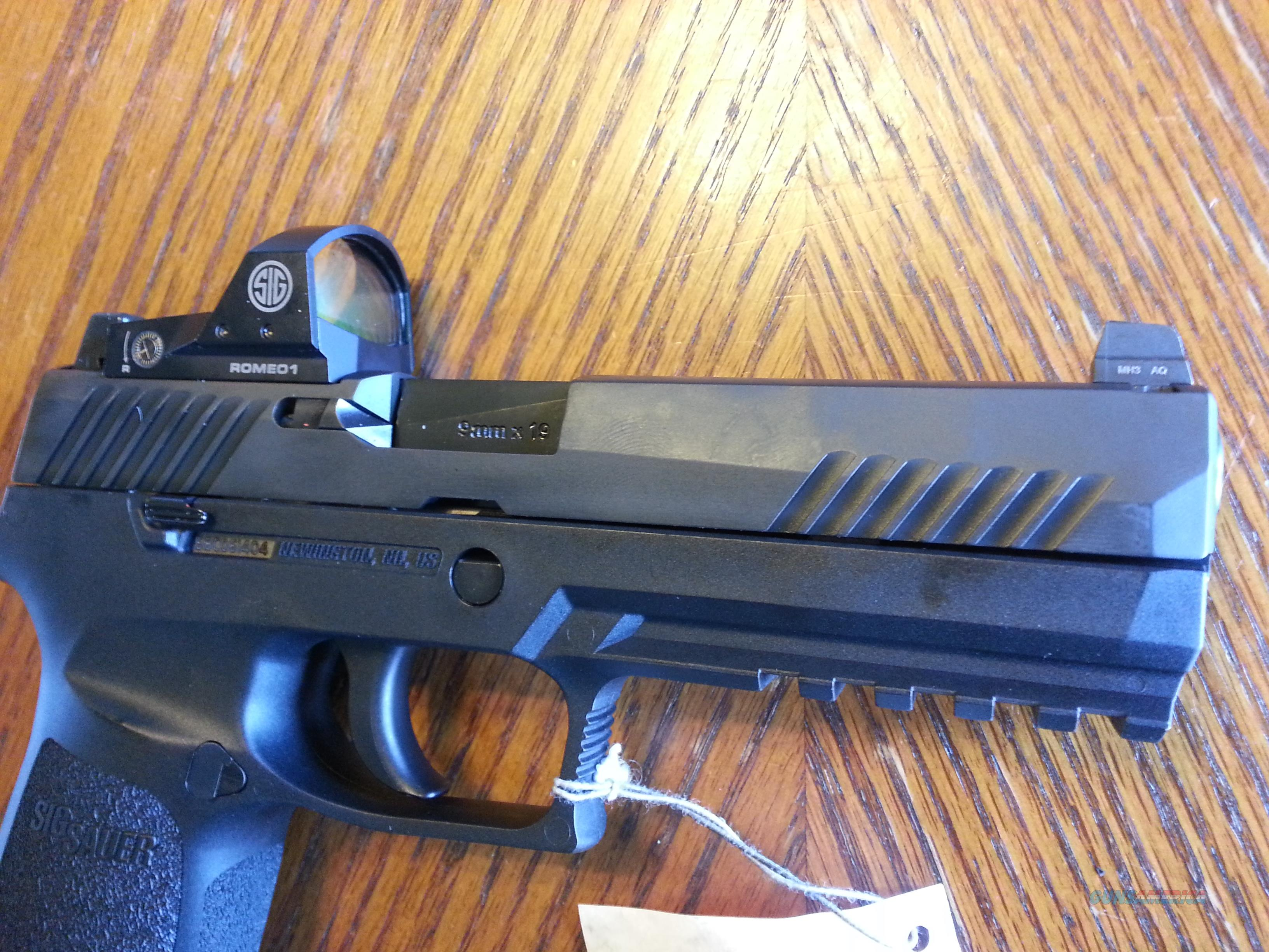 "Sig Sauer P320 4.7"" 9mm +Sig Romeo 1 Red Dot + High Co-Witness Night Sights NIB FREE LAYAWAY  Guns > Pistols > Sig - Sauer/Sigarms Pistols > P320"