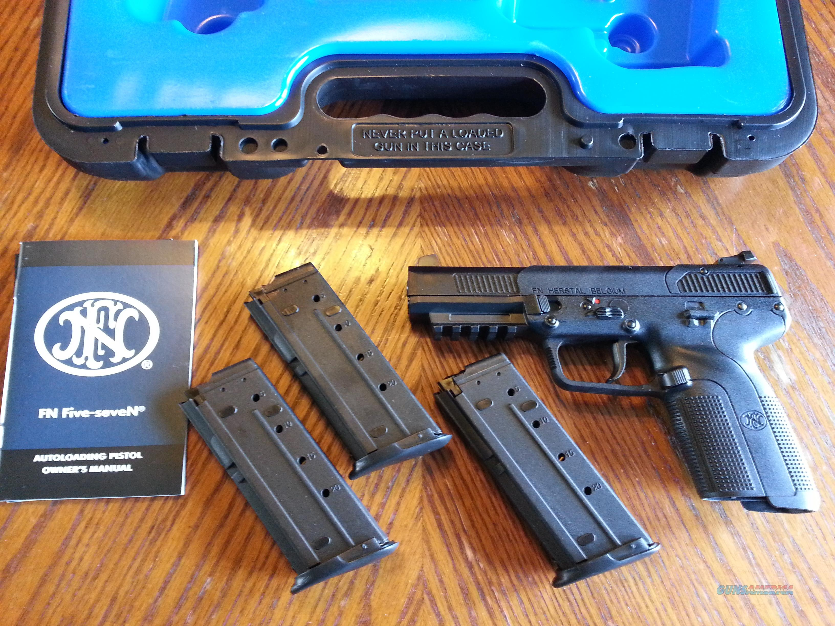 FN Five-Seven Pistol, MK II, 5.7 x 28mm, NIB, (3) 20 Round Mags  Guns > Pistols > FNH - Fabrique Nationale (FN) Pistols > FiveSeven