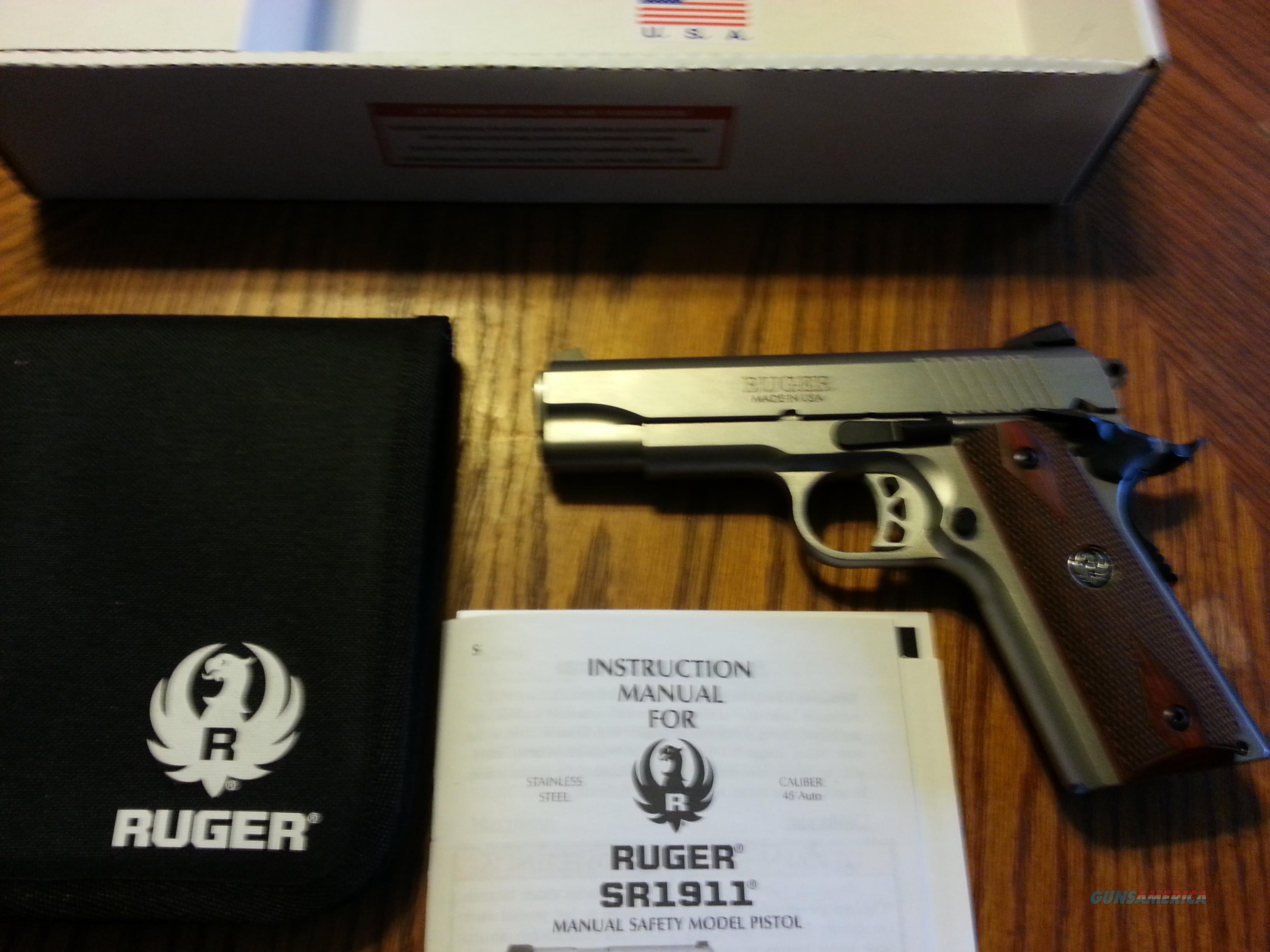 "Ruger Stainless SR1911 Commander 4.25"" (2) Mags 45 ACP NIB  Guns > Pistols > Ruger Semi-Auto Pistols > 1911"