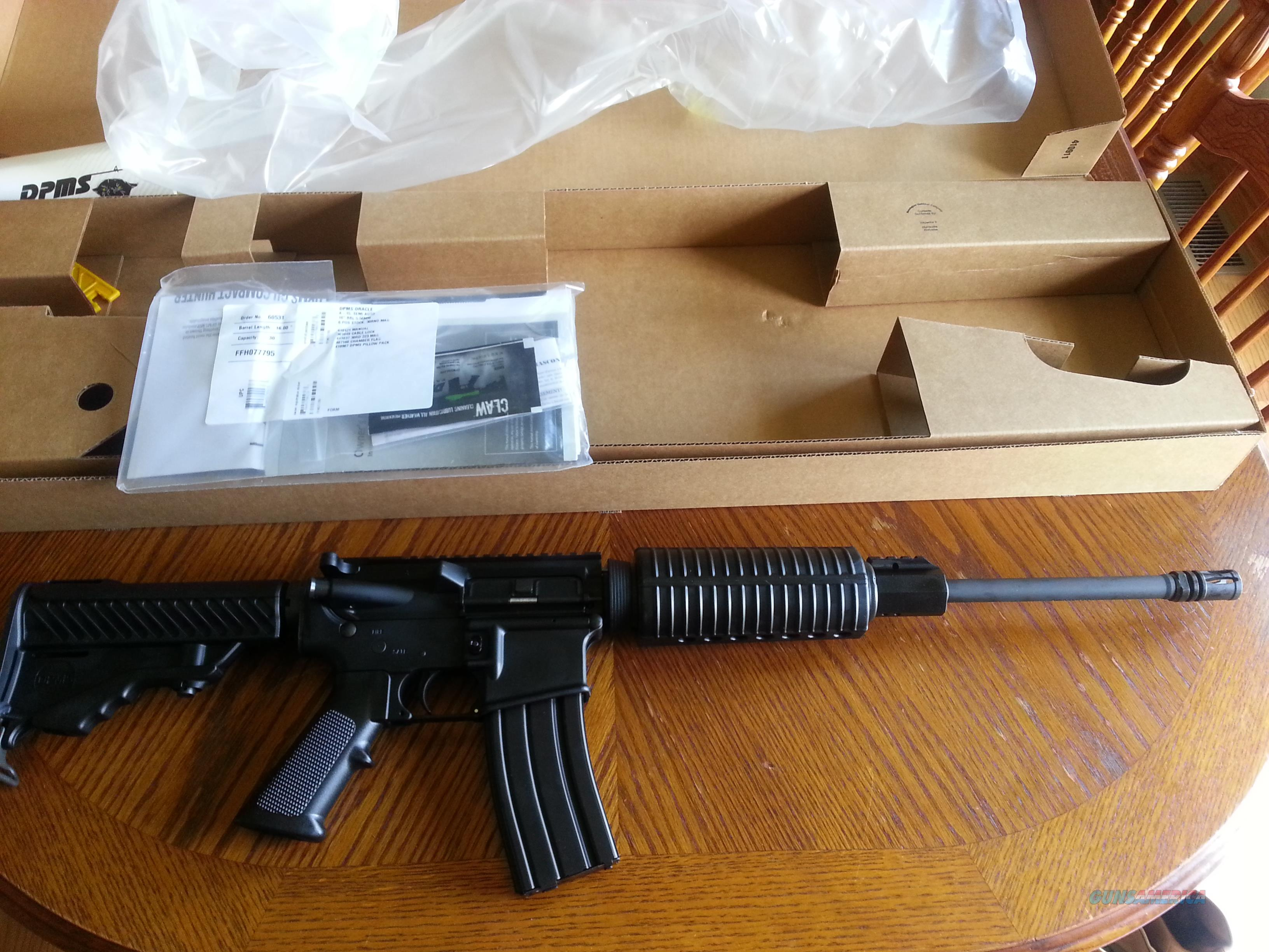 "DPMS AR15 AR 15 Oracle, 16"", .223/5.56, Dust Cover, Forward Assist, NIB, SALE!!!   Guns > Rifles > DPMS - Panther Arms > Complete Rifle"