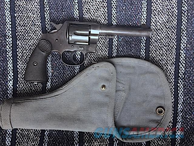 Colt New Service .455 Eley Mfg. 1915 with period cloth holster  Guns > Pistols > Collectible Revolvers