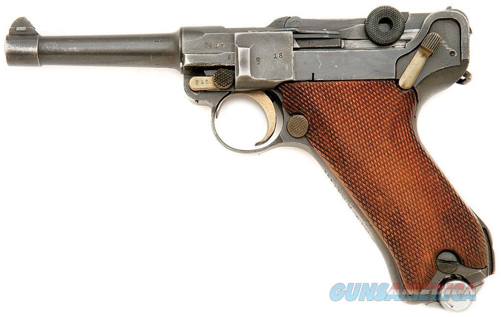 German P.08 Weimar Police Luger Pistol by Erfurt with Unit Markings  Guns > Pistols > Luger Pistols