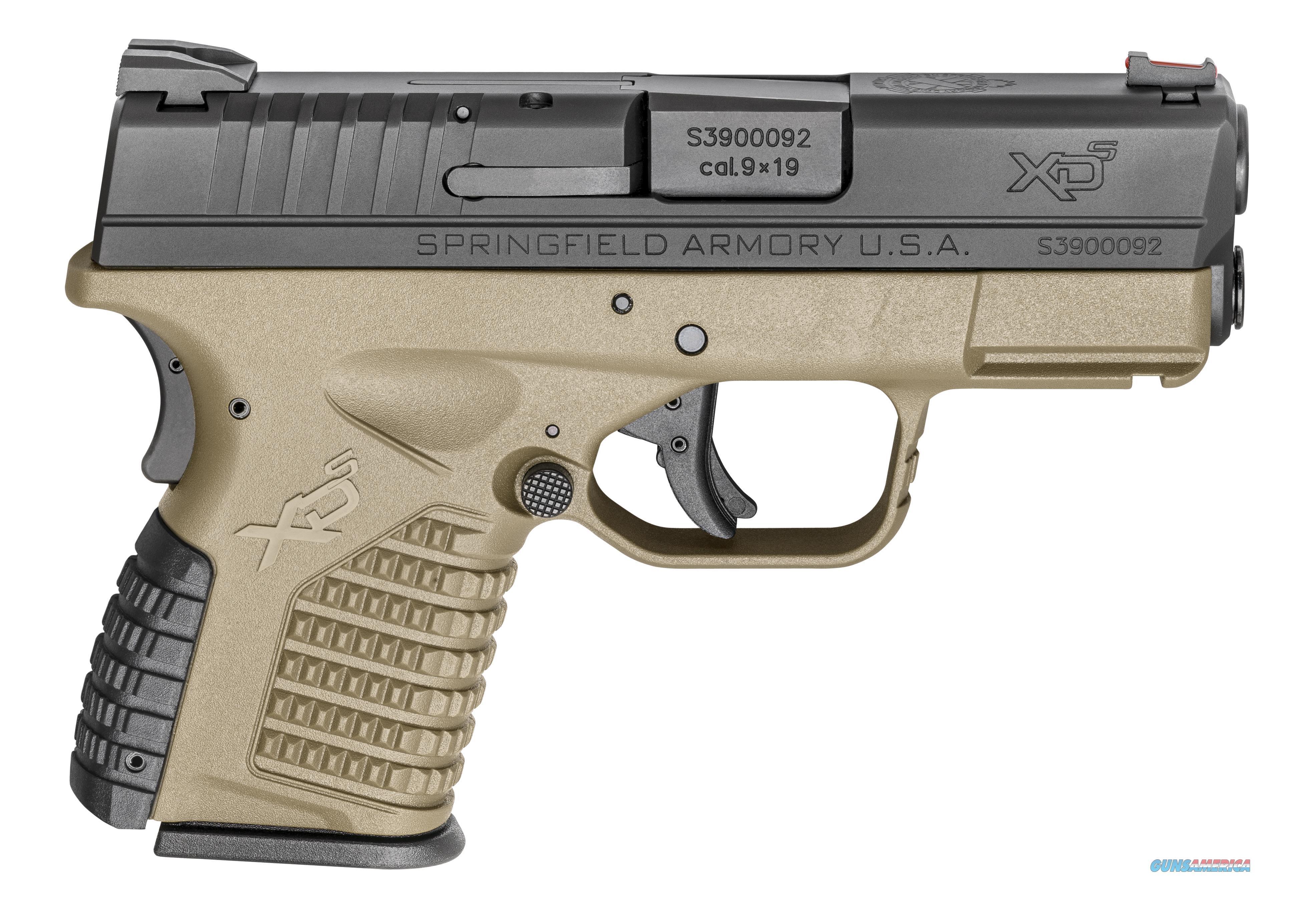 """Springfield XD-S 9mm 3.3"""" 7+1/8+1 - Flat Dark Earth - BNIB  Guns > Pistols > Springfield Armory Pistols > XD-S"""