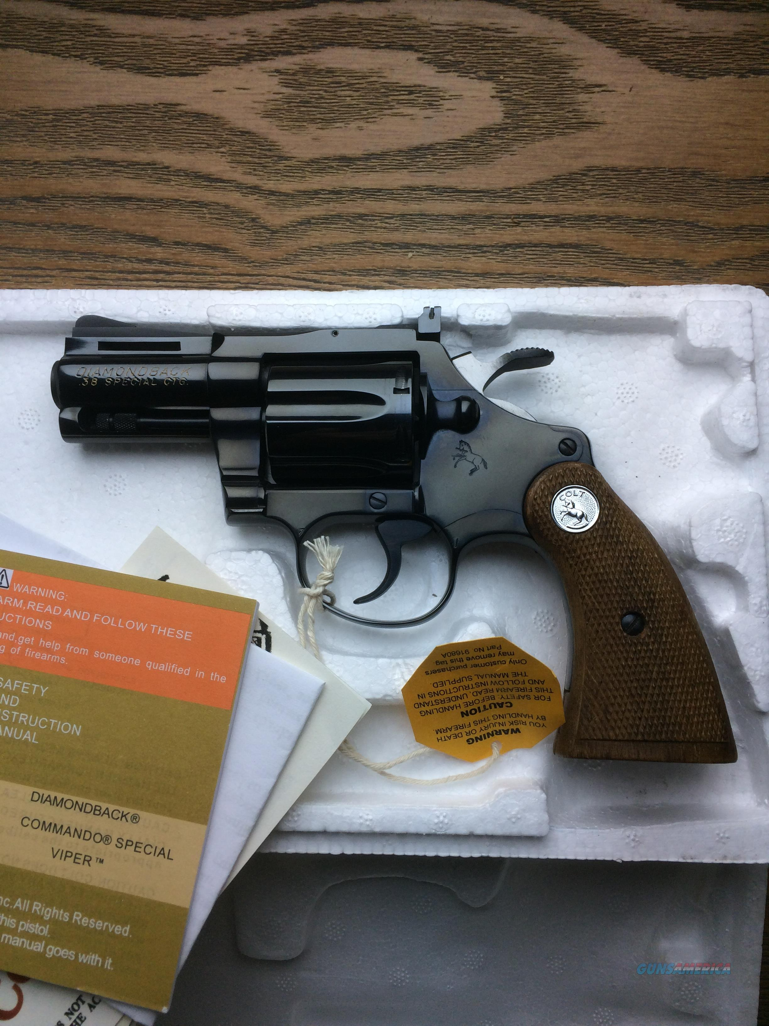 Colt .38 Diamondback Snubby Royal Blue, MINT  Guns > Pistols > Colt Double Action Revolvers- Modern