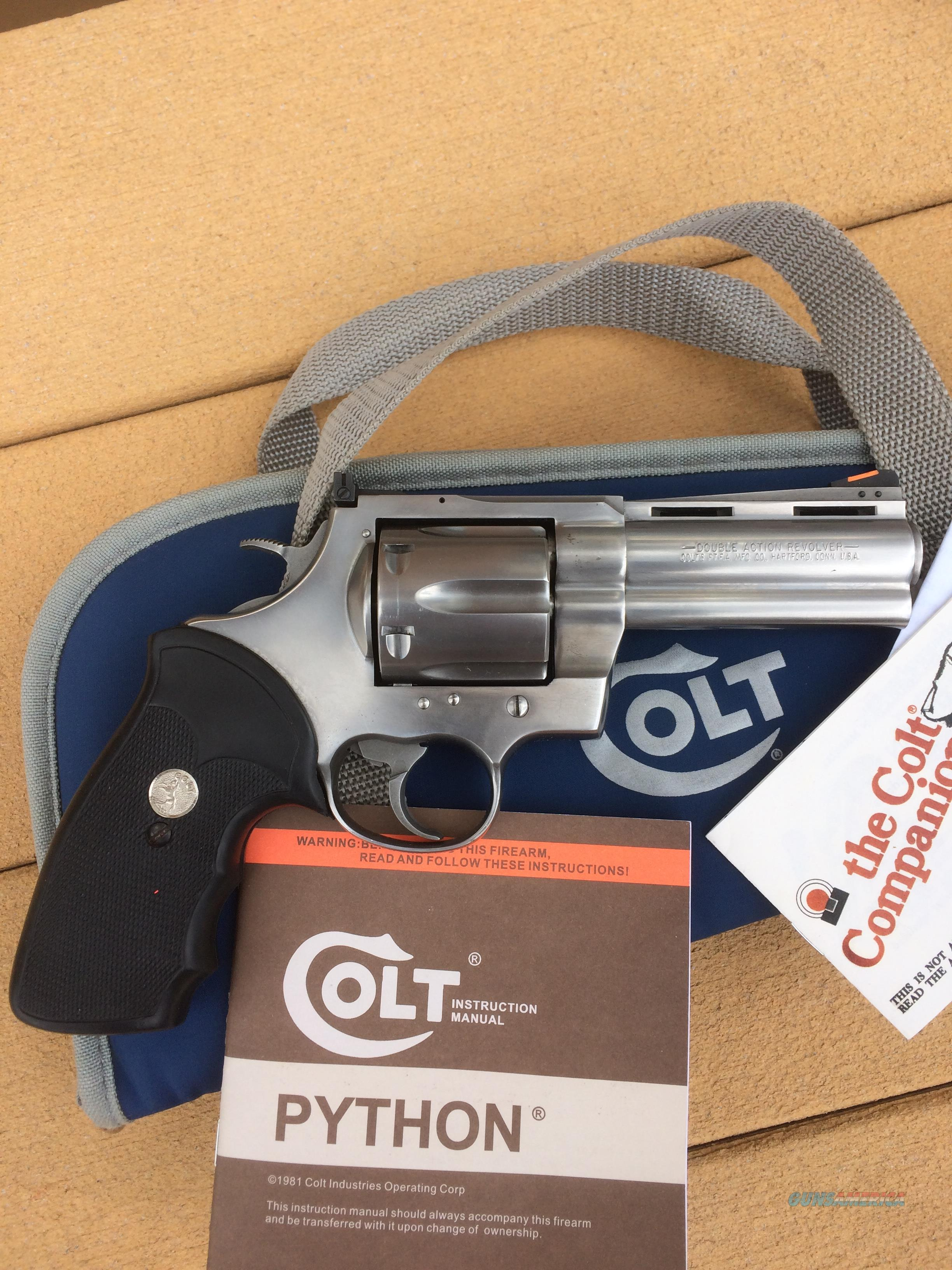 "Colt Anaconda .44 Magunm 4"" brushed stainless, Minty  Guns > Pistols > Colt Double Action Revolvers- Modern"