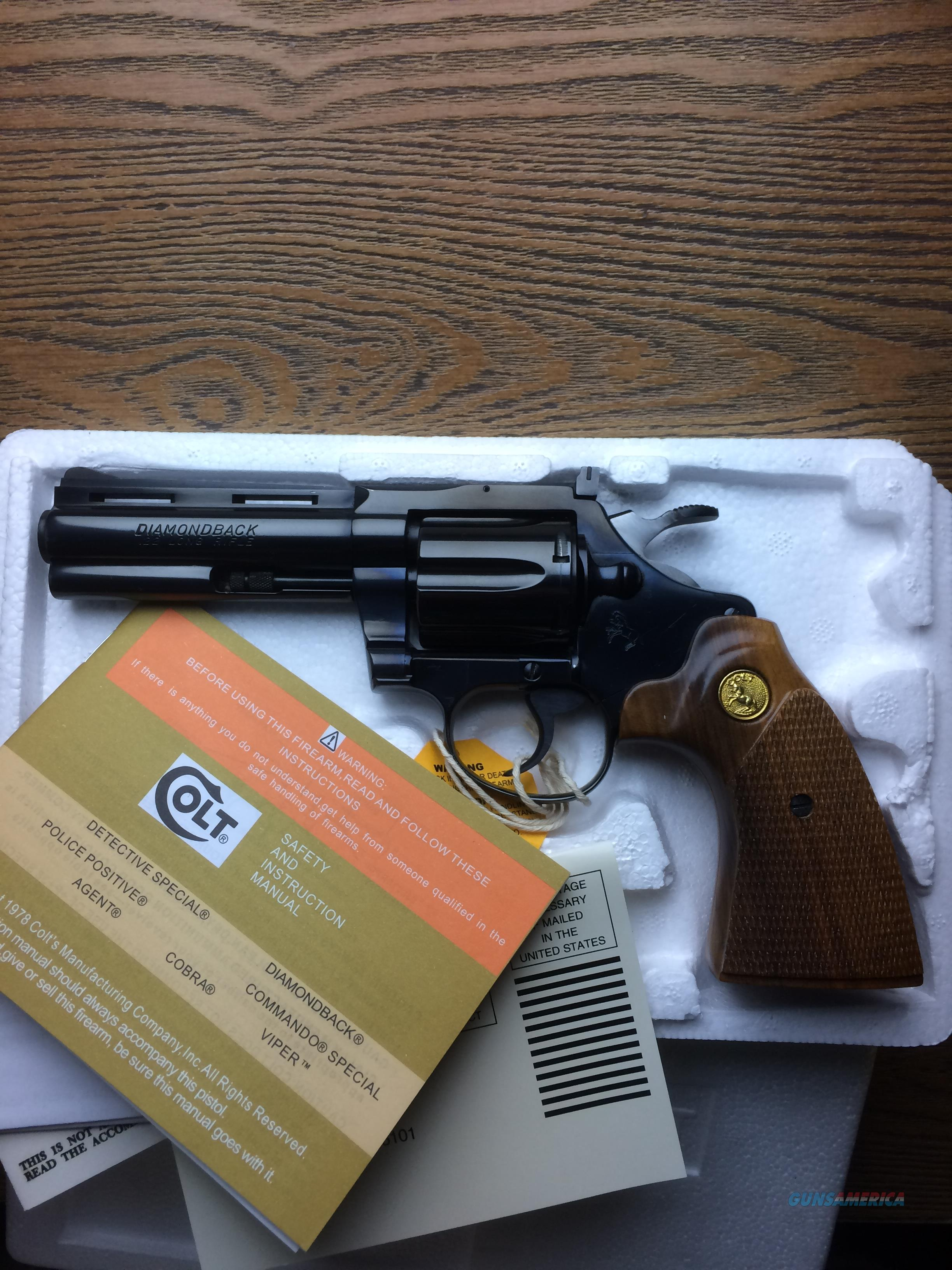 "Colt Diamondback .22 LR 4"" Barrel, Minty  Guns > Pistols > Colt Double Action Revolvers- Modern"