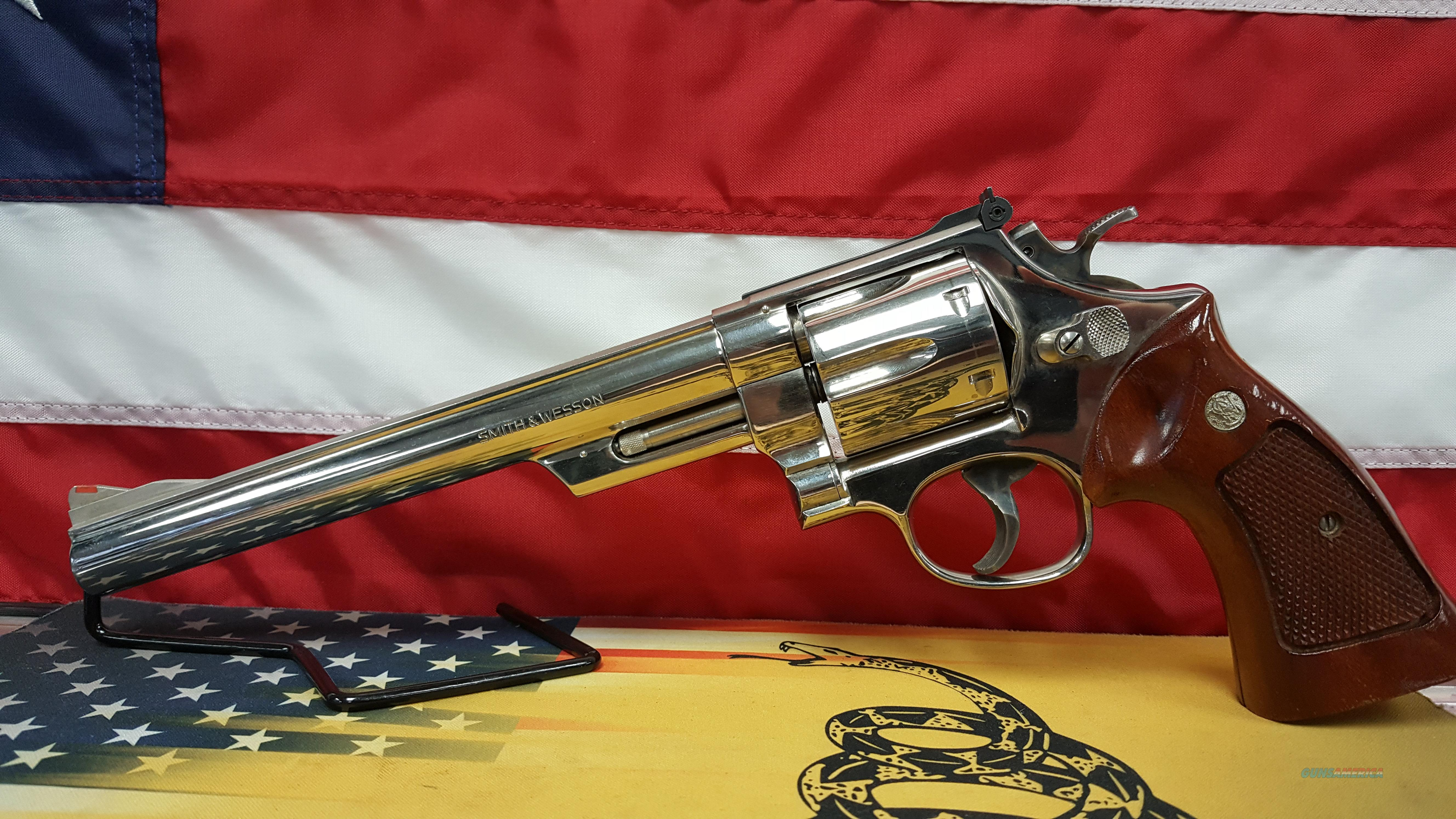 "SMITH AND WESSON MODEL 57 8 3/8"" 41 MAGNUM NICKEL REVOLVER   Guns > Pistols > Smith & Wesson Revolvers > Full Frame Revolver"