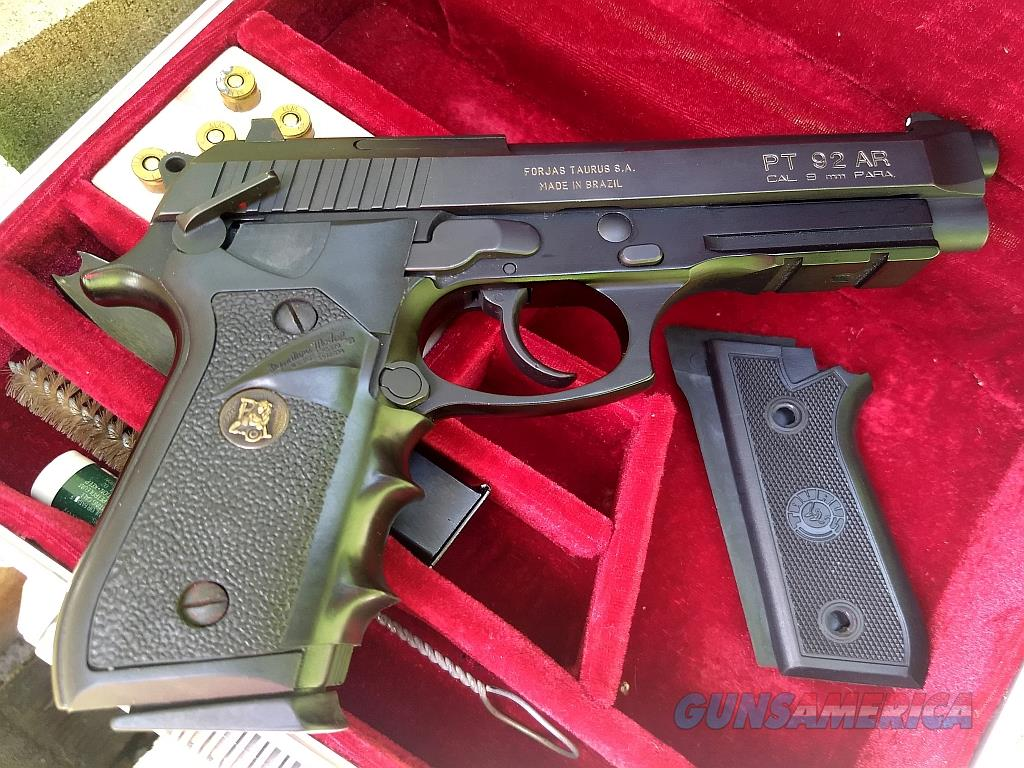 Taurus PT92 AR 9 mm Luger   Guns > Pistols > Taurus Pistols > Semi Auto Pistols > Steel Frame