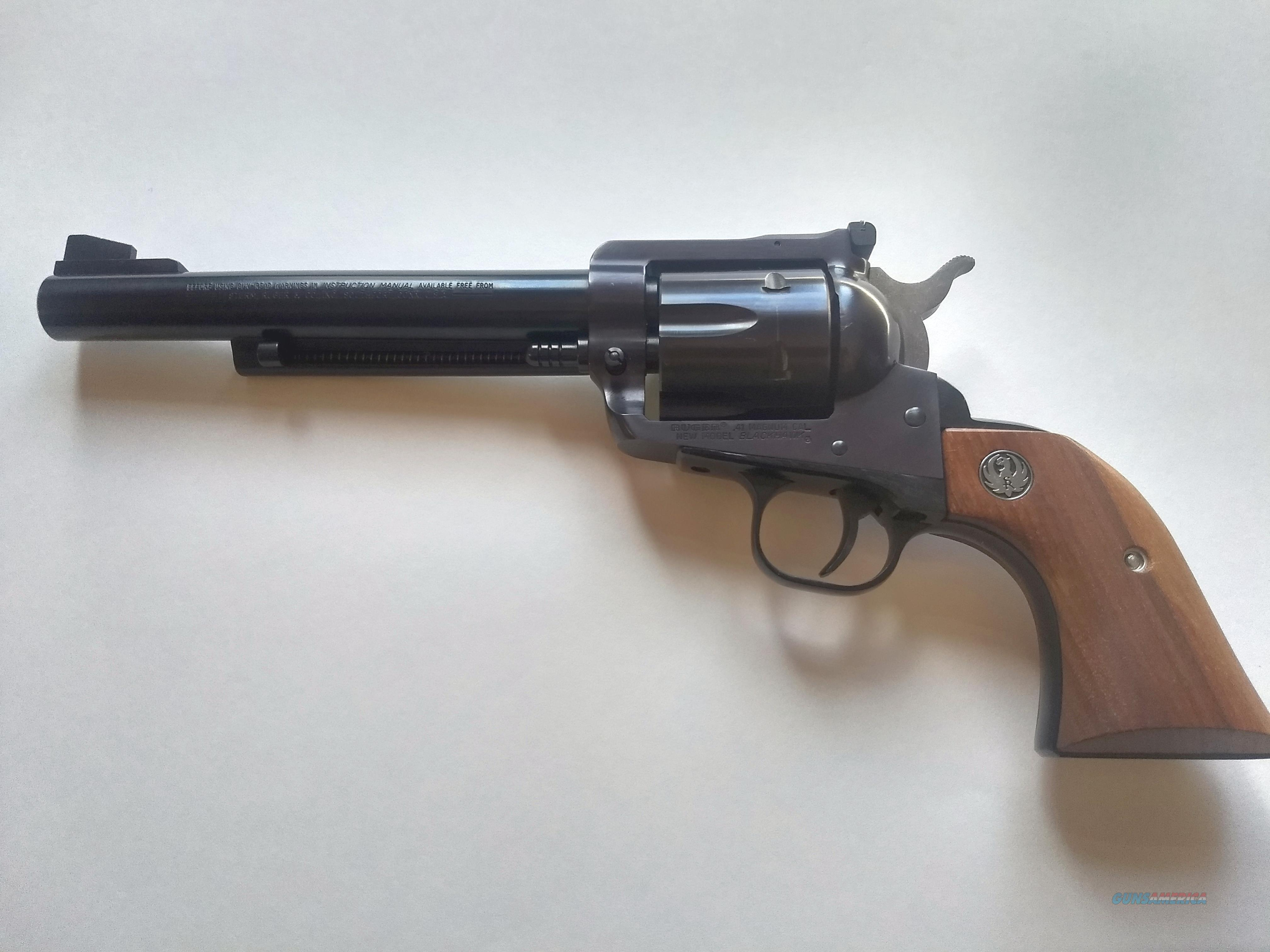 Ruger New Model Blackhawk .41 Magnum    Guns > Pistols > Ruger Single Action Revolvers > Blackhawk Type