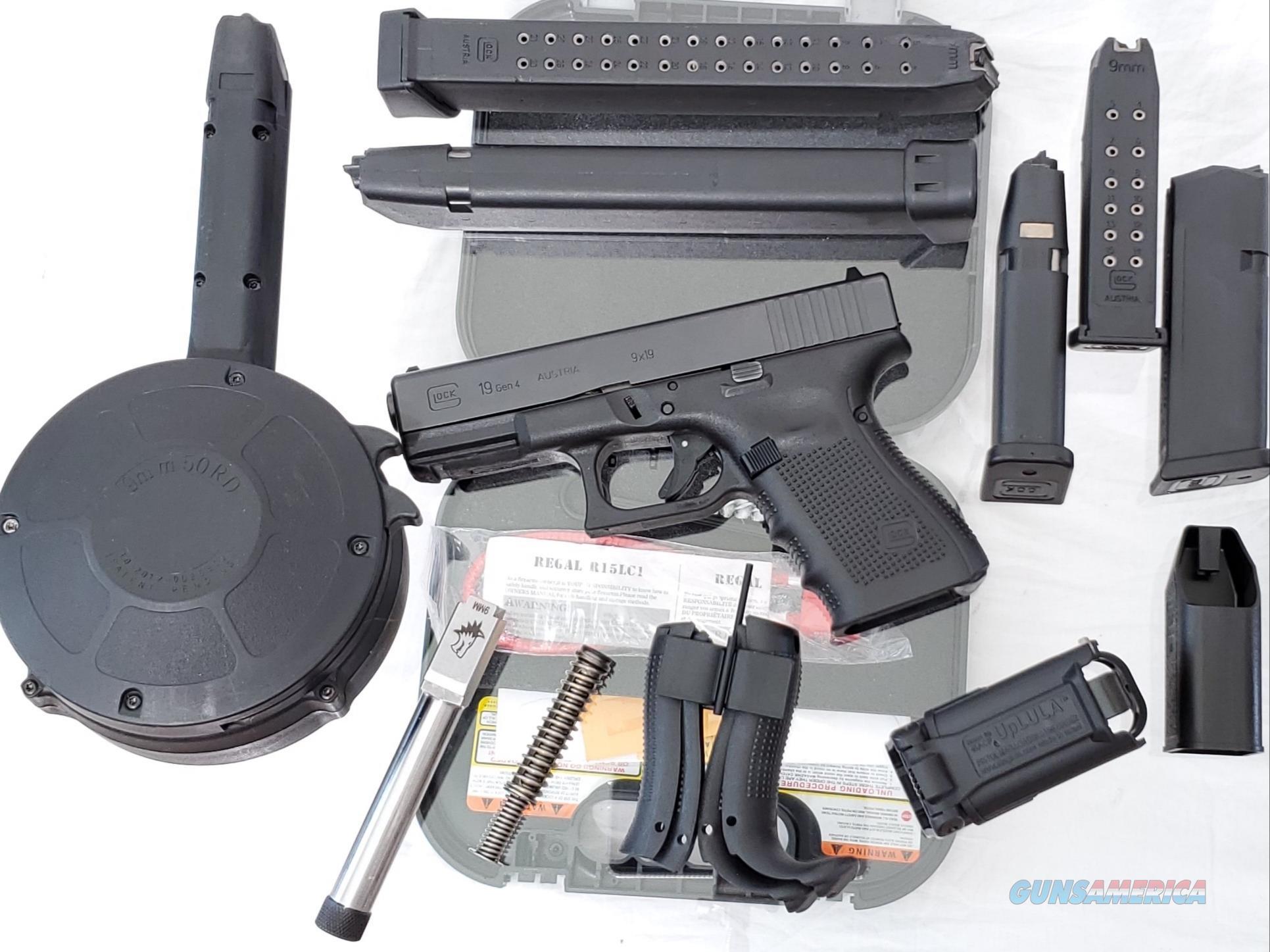 Glock 19 Gen 4,15rd, PG1950203, Extra LW barrel  Guns > Pistols > Glock Pistols > 19/19X