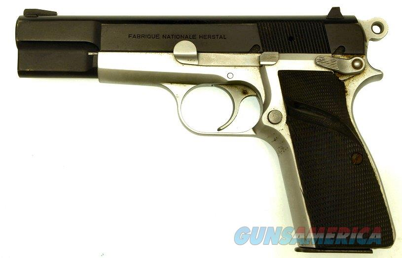 Browning 9mm HP Pistol with original two-tone finish.  Guns > Pistols > Browning Pistols > Hi Power