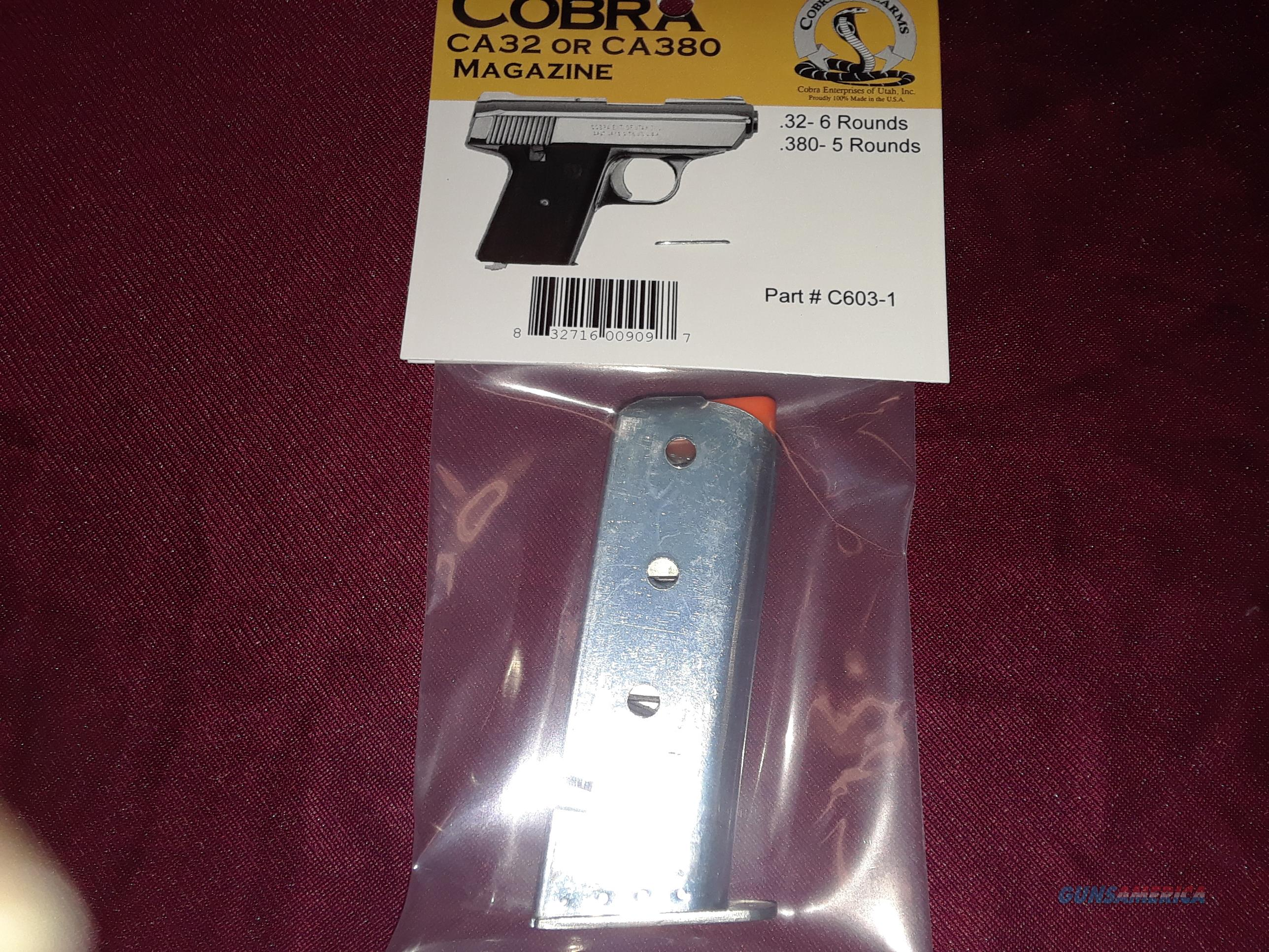 Cobra CA Magazine 32/380  Non-Guns > Magazines & Clips > Pistol Magazines > Other