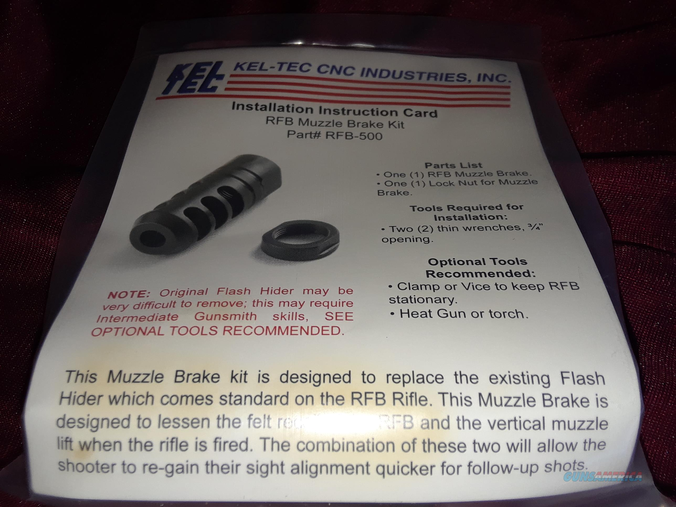 Keltec RFB Muzzle Brake Kit  Non-Guns > Gun Parts > Rifle/Accuracy/Sniper