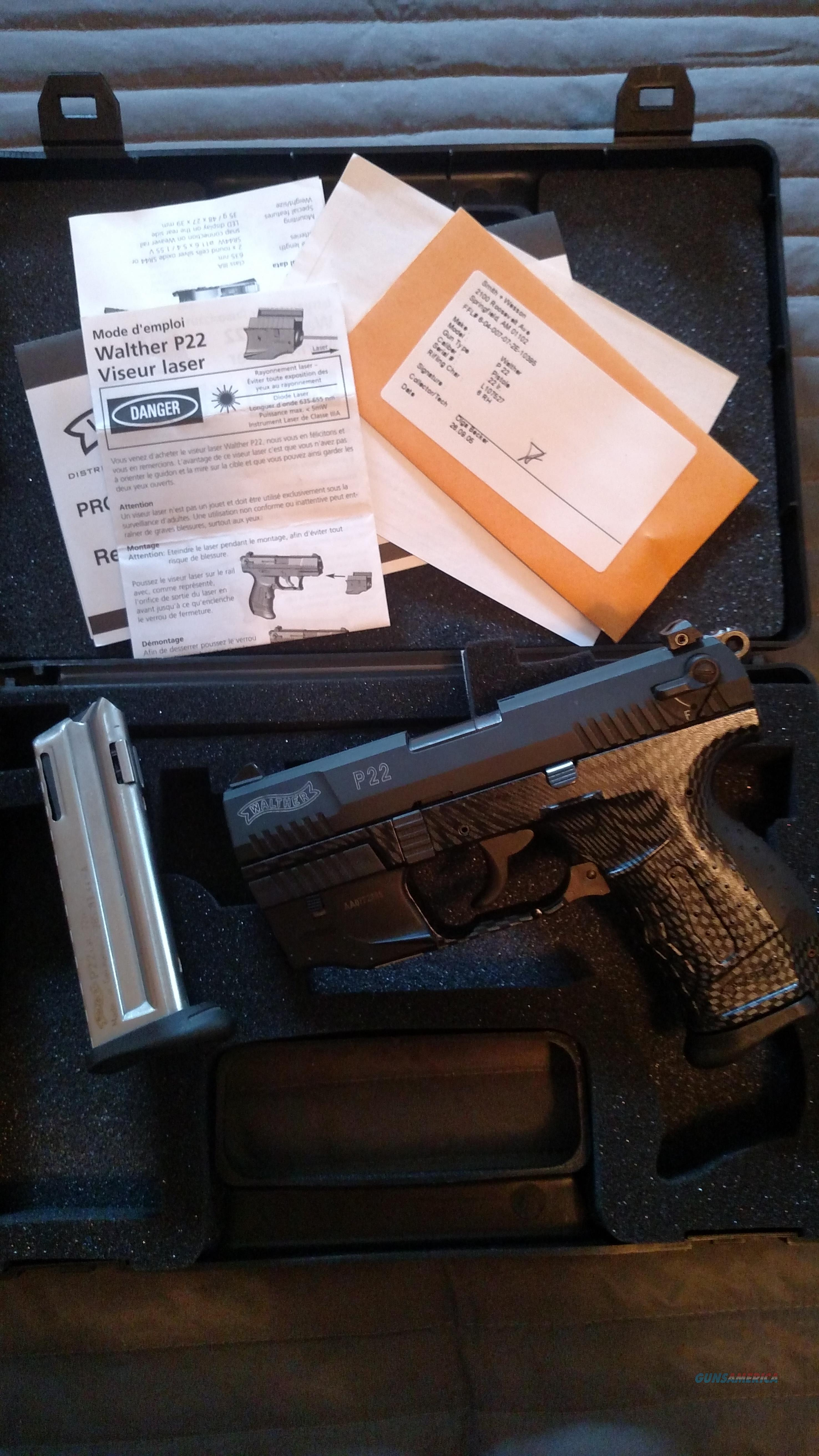 "Walther P22 Carbon Fiber with Laser ""$$ Drop""  Guns > Pistols > Walther Pistols > Post WWII > P22"