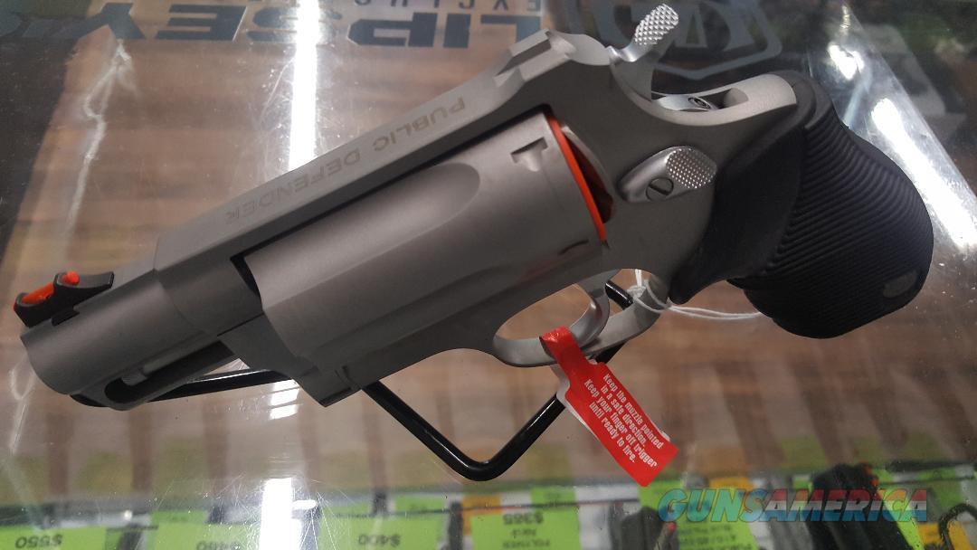 Taurus Judge Public Defender 410/45LC Stainless Revolver, New In Box  Guns > Pistols > Taurus Pistols > Revolvers