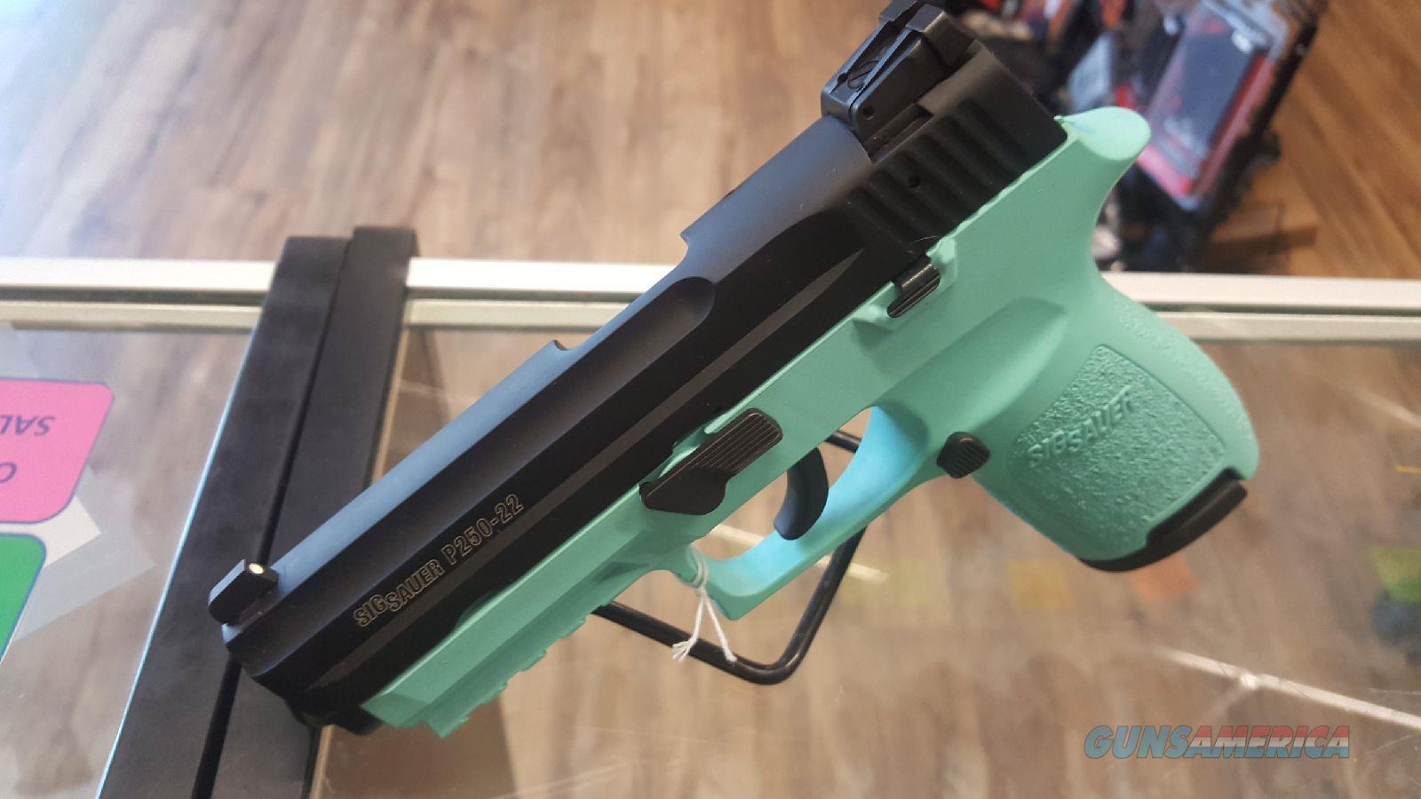 Sig Sauer P250 Compact 22lr Robin's Egg Blue New Layaway NO CC FEES  Guns > Pistols > Sig - Sauer/Sigarms Pistols > P250