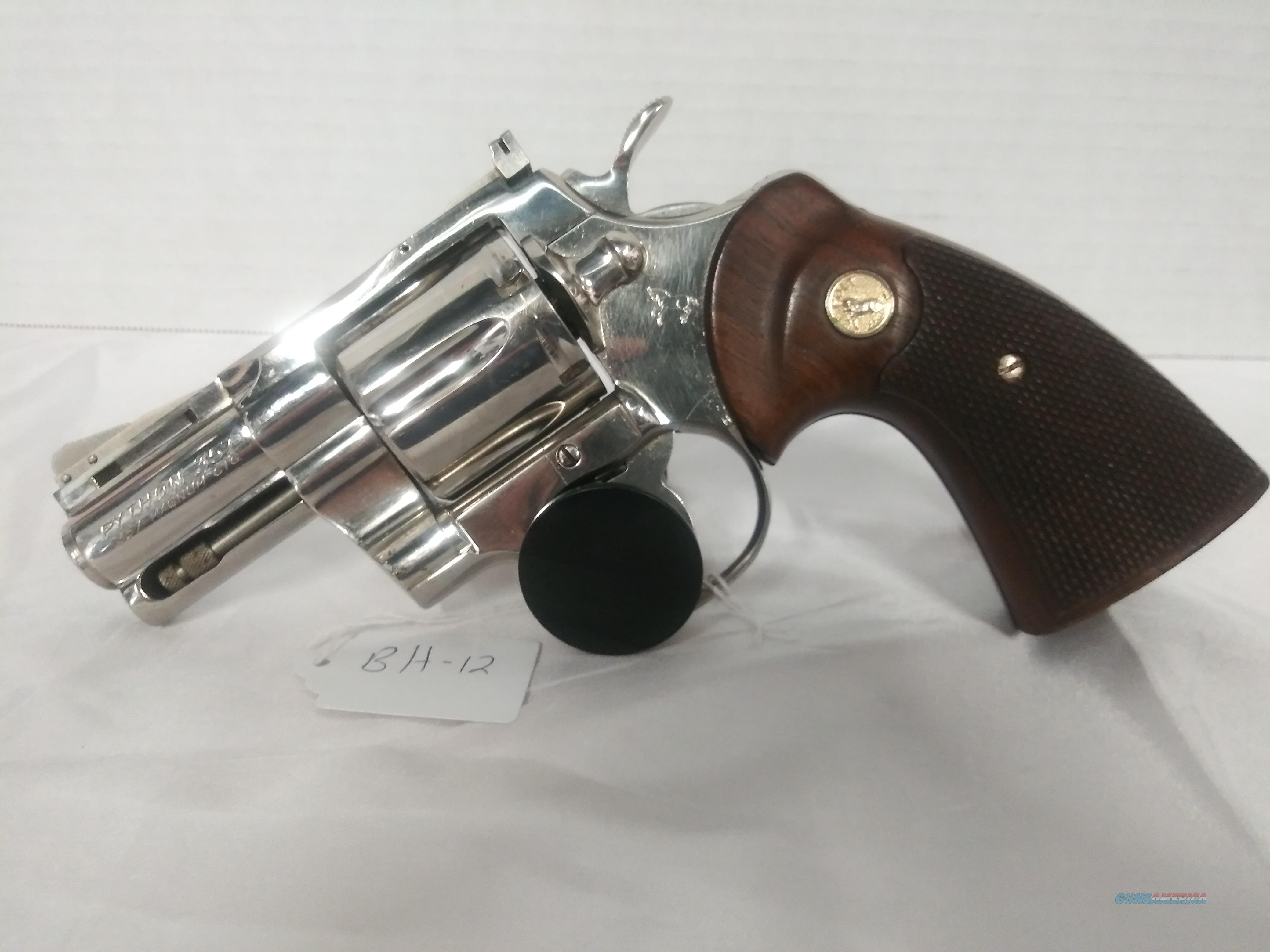 Colt Python Nickel 357 Mag Used No CC Fees Layaway  Guns > Pistols > Colt Double Action Revolvers- Modern