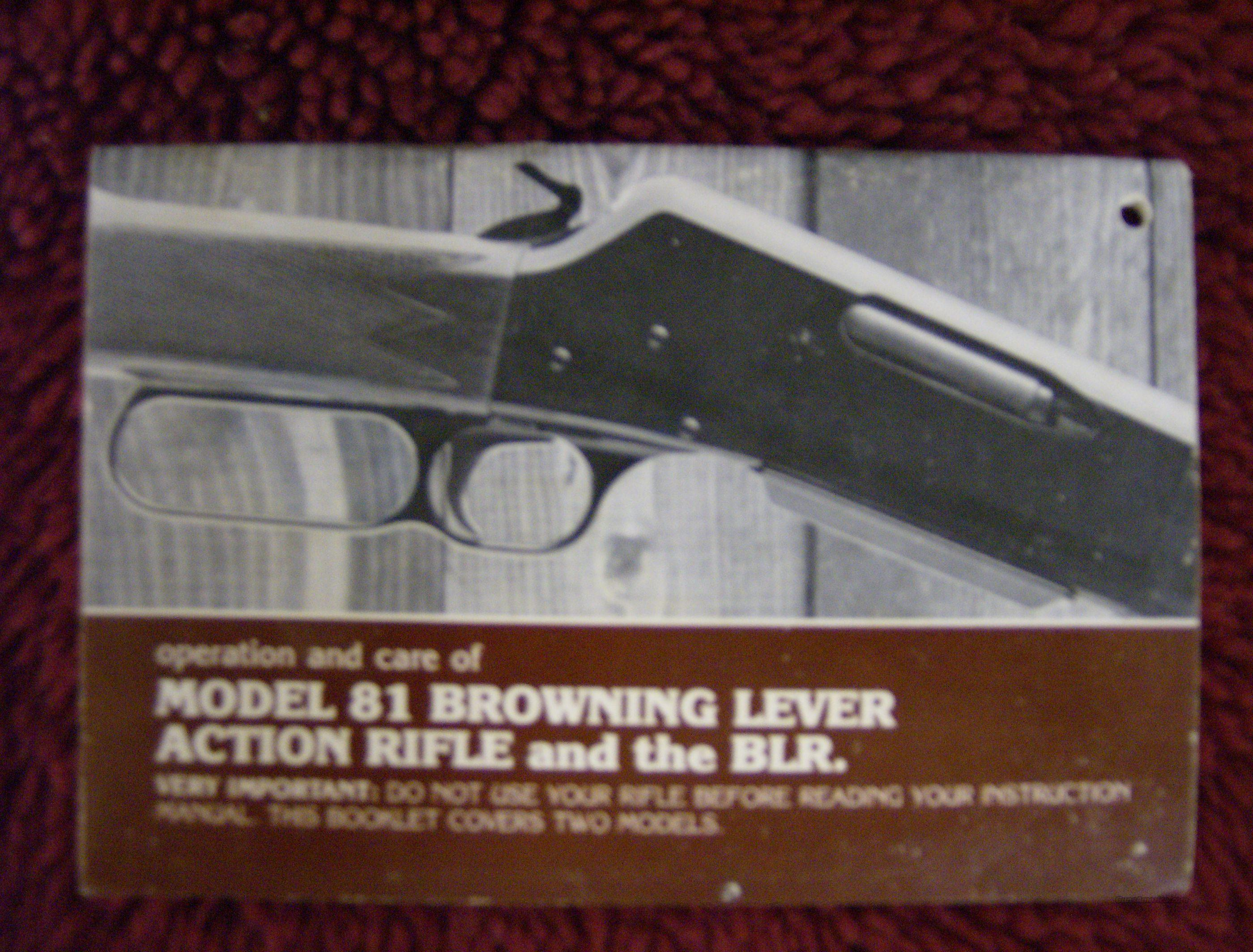 browning owners manual for 81 lever action rifl for sale rh gunsamerica com