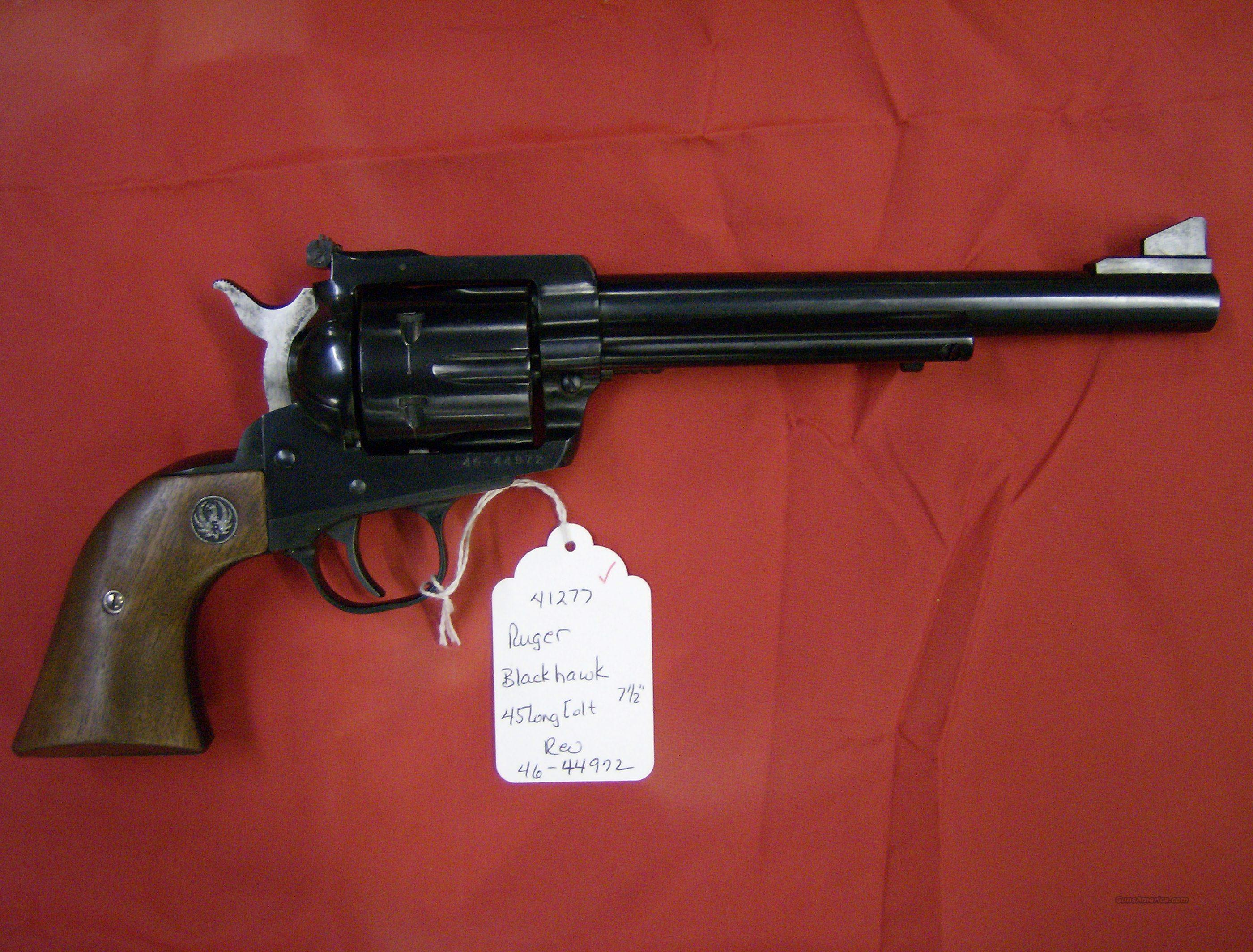 "RUGER BLACKHAWK 45 LC 7 1/2"" BLUE  Guns > Pistols > Ruger Single Action Revolvers > Blackhawk Type"