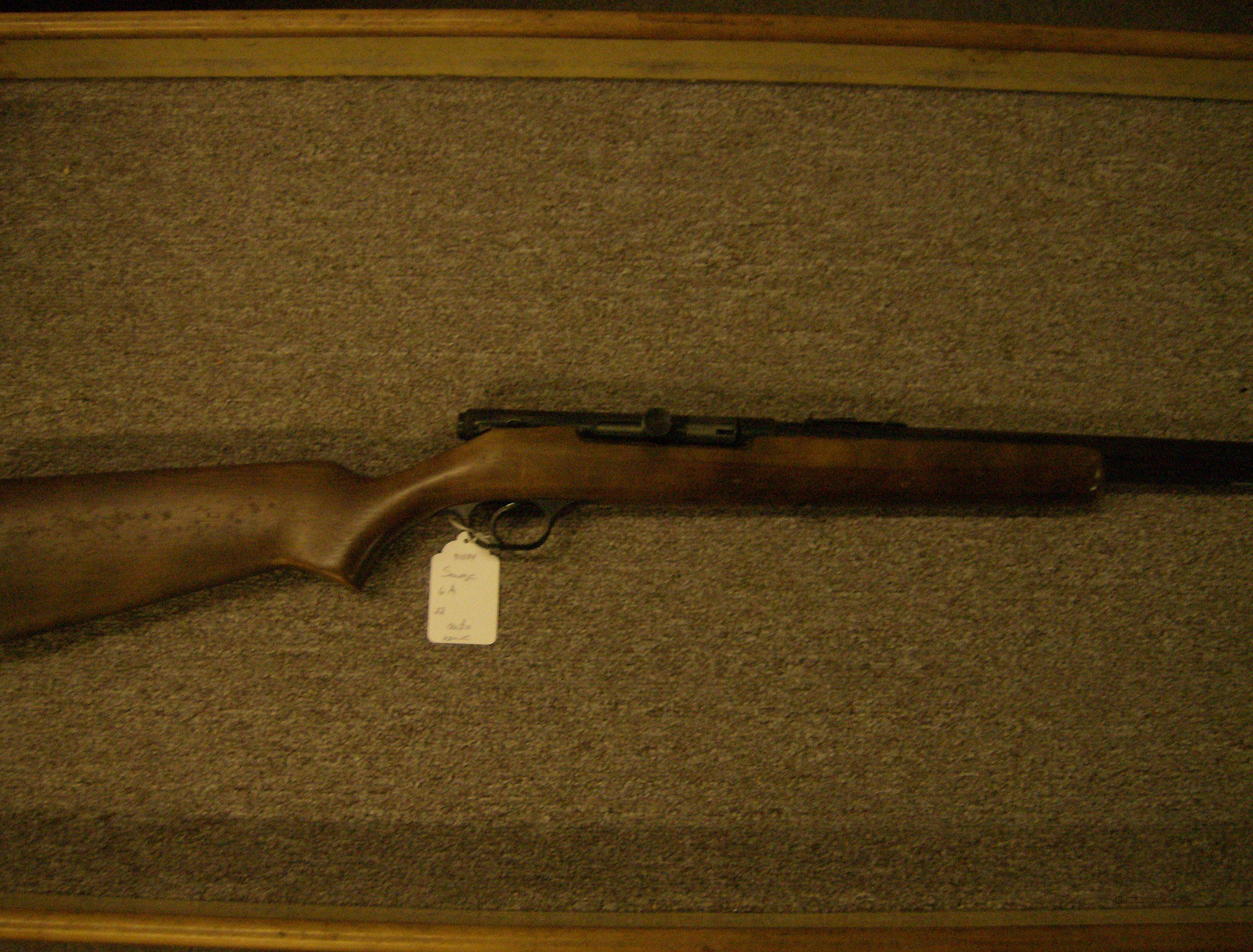 SAVAGE MODEL 6A 22 S,L,LR  Guns > Rifles > Savage Rifles > Other