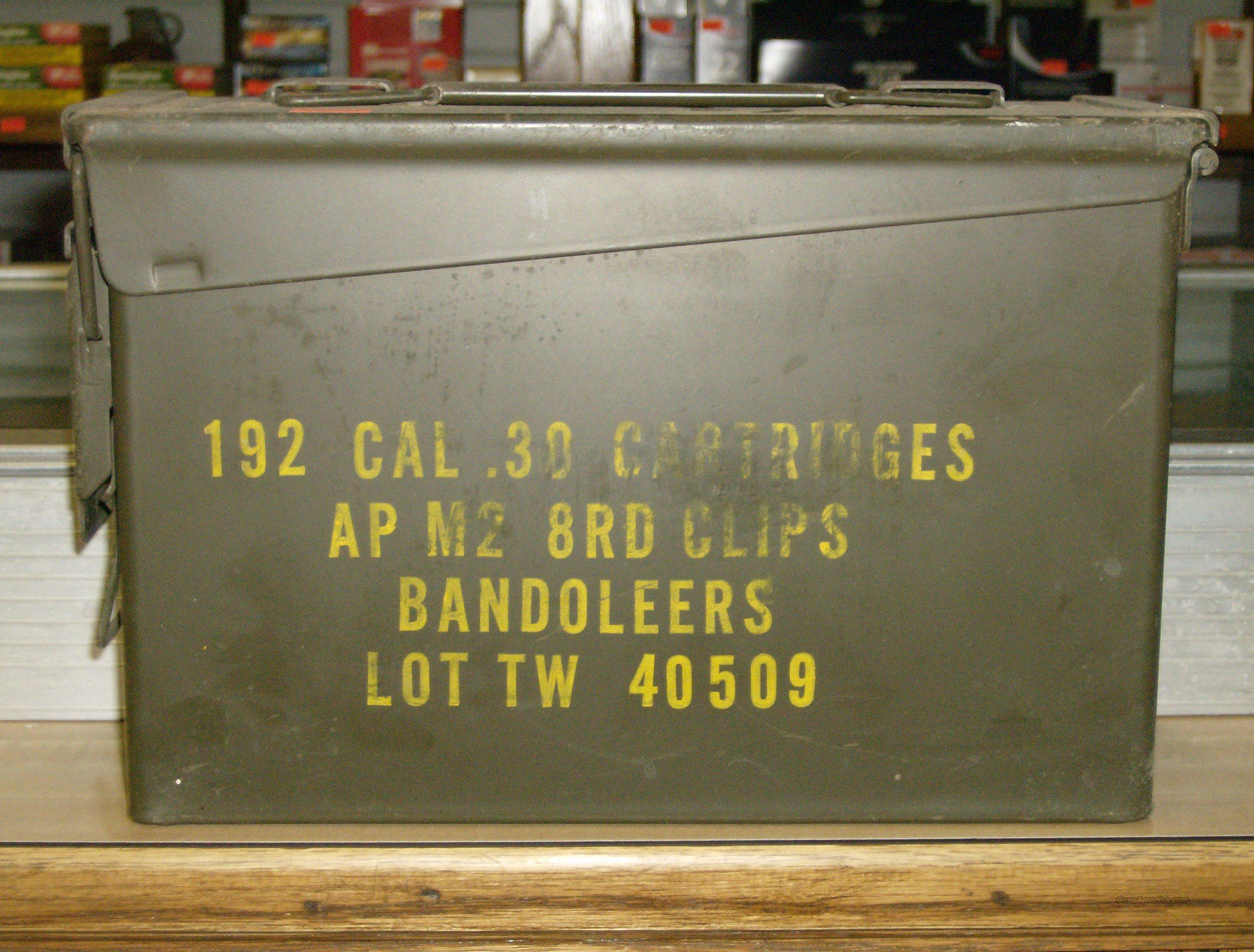 MILITARY 30/06 AP M2 AMMO IN GI CAN  Non-Guns > Collectible Cartridges