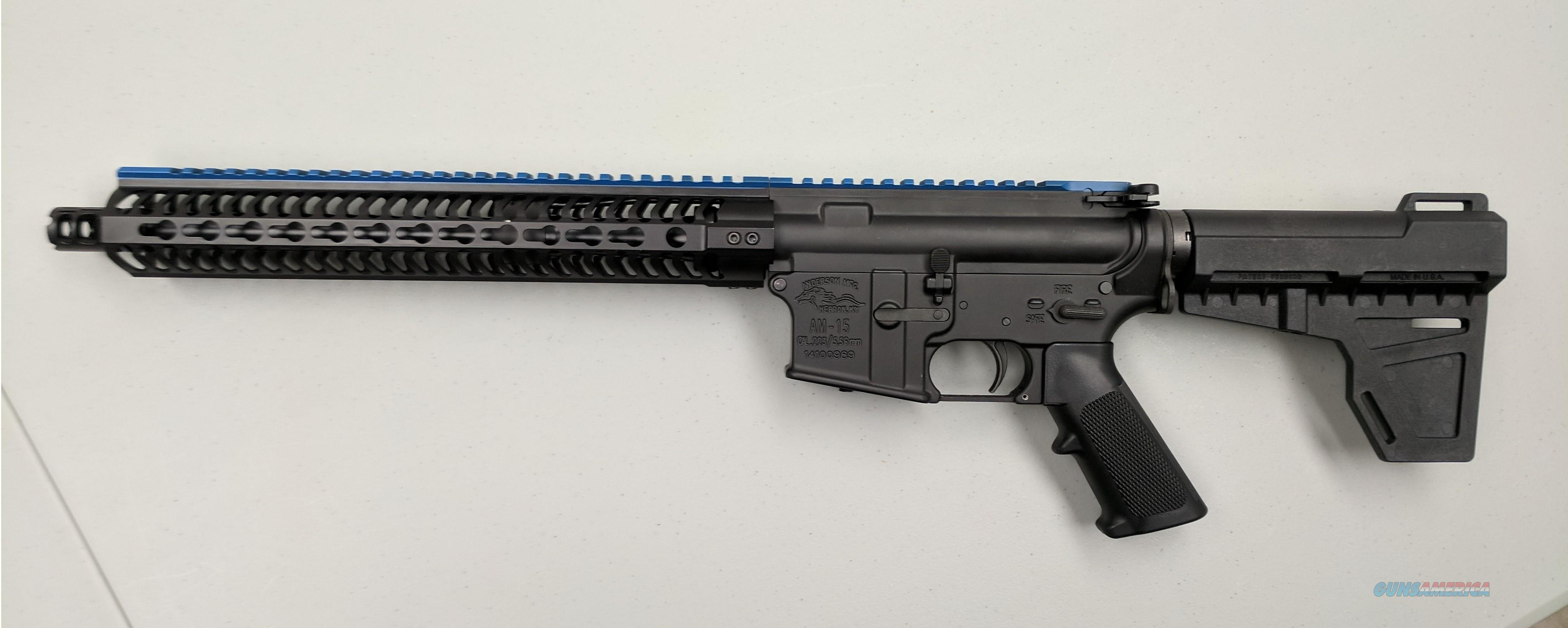 "Anderson ""Thin Blue Line"" 300 Blk AR-Pistol  Guns > Rifles > AR-15 Rifles - Small Manufacturers > Complete Rifle"
